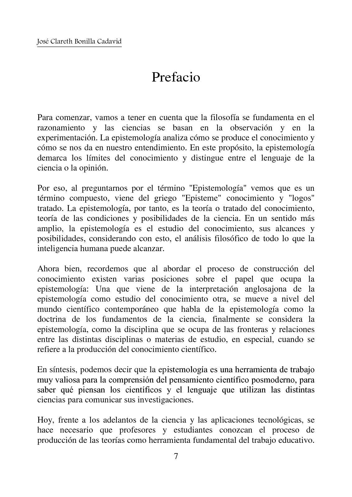Fronteras De La Epistemologia Calameo Downloader