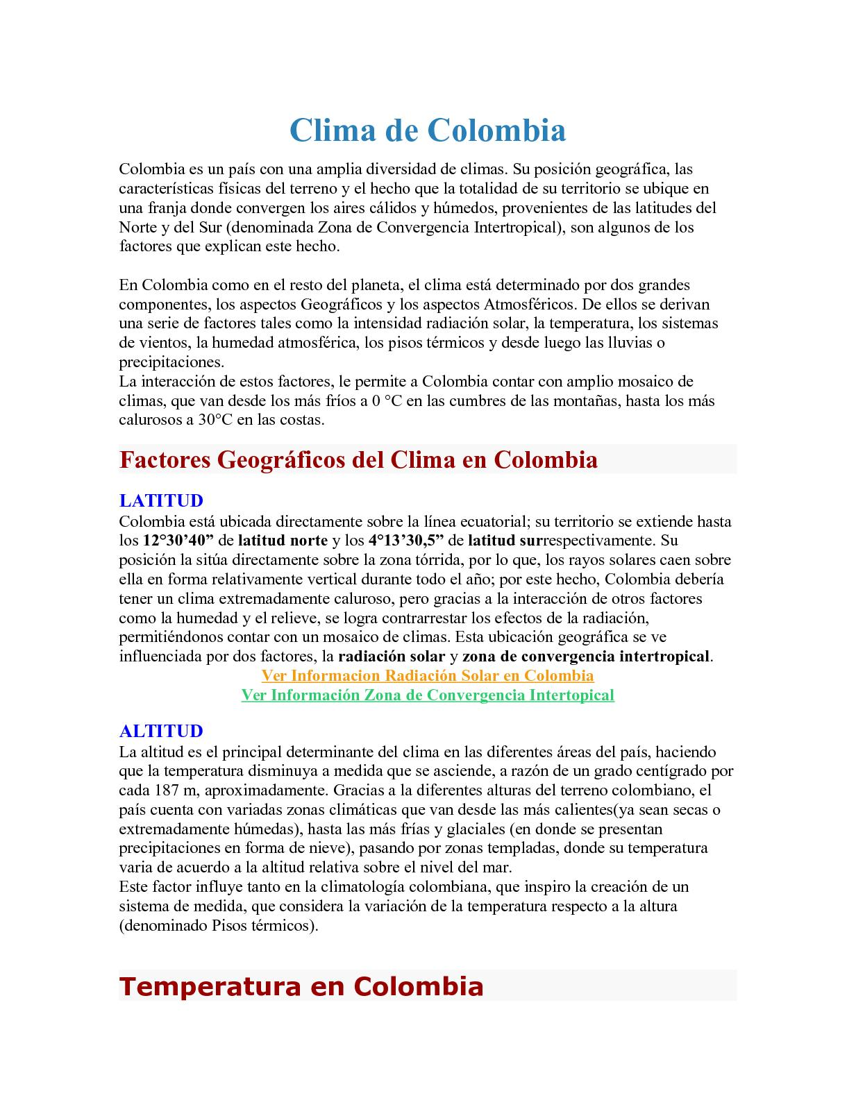 Calaméo - Clima De Colombia