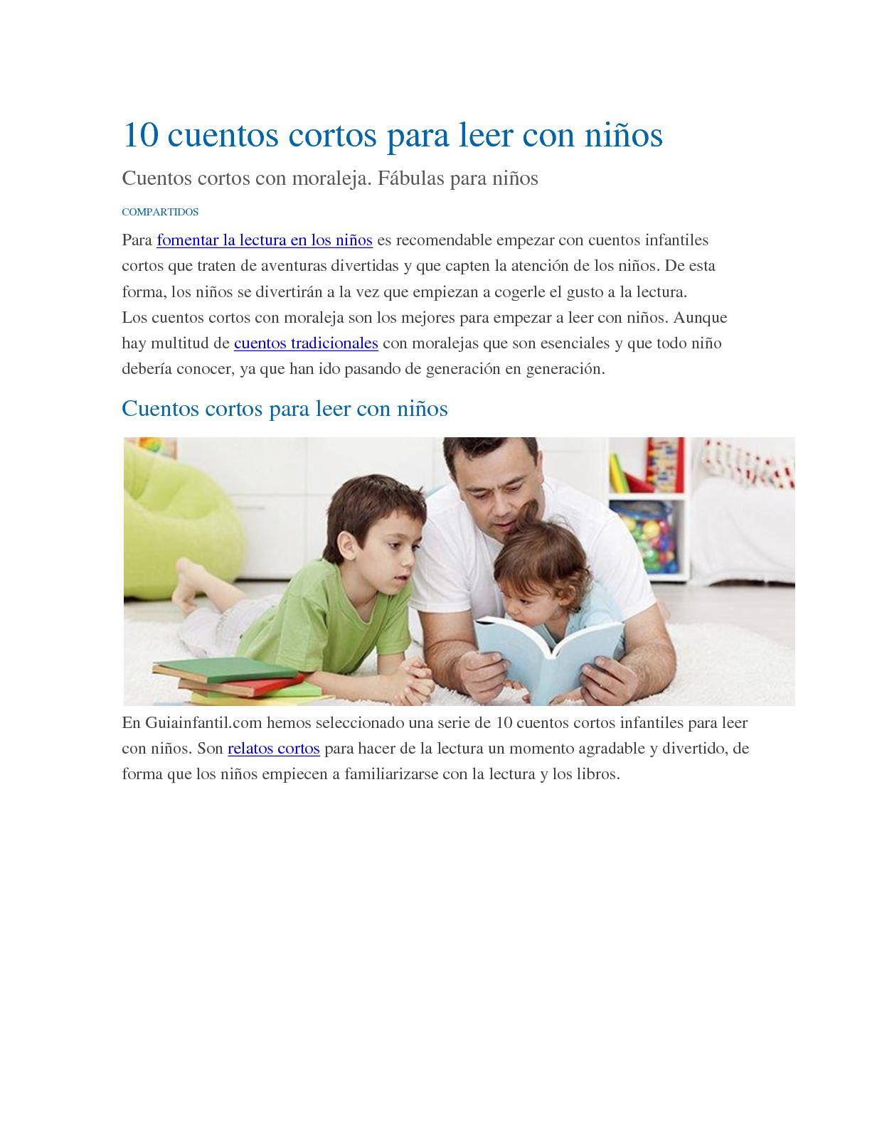Calaméo 10 Cuentos Cortos Para Leer Con Niños