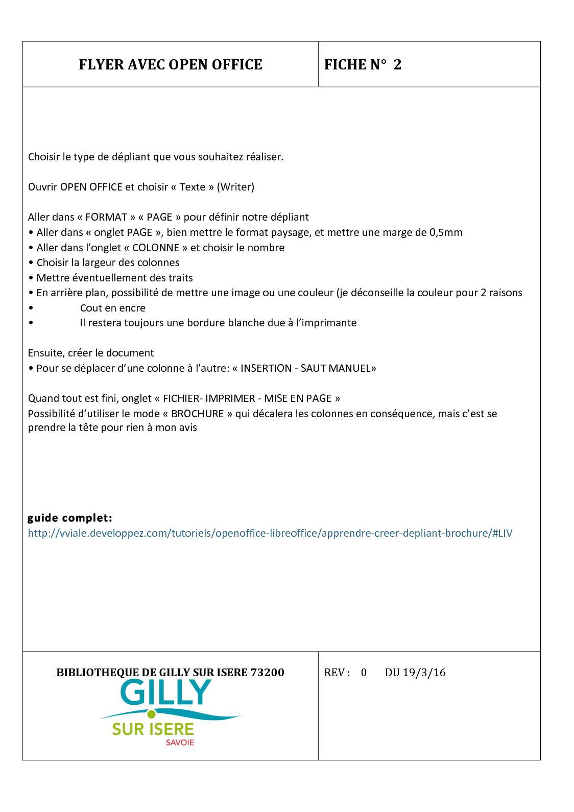 Calaméo 2 Flyer Avec Open Office