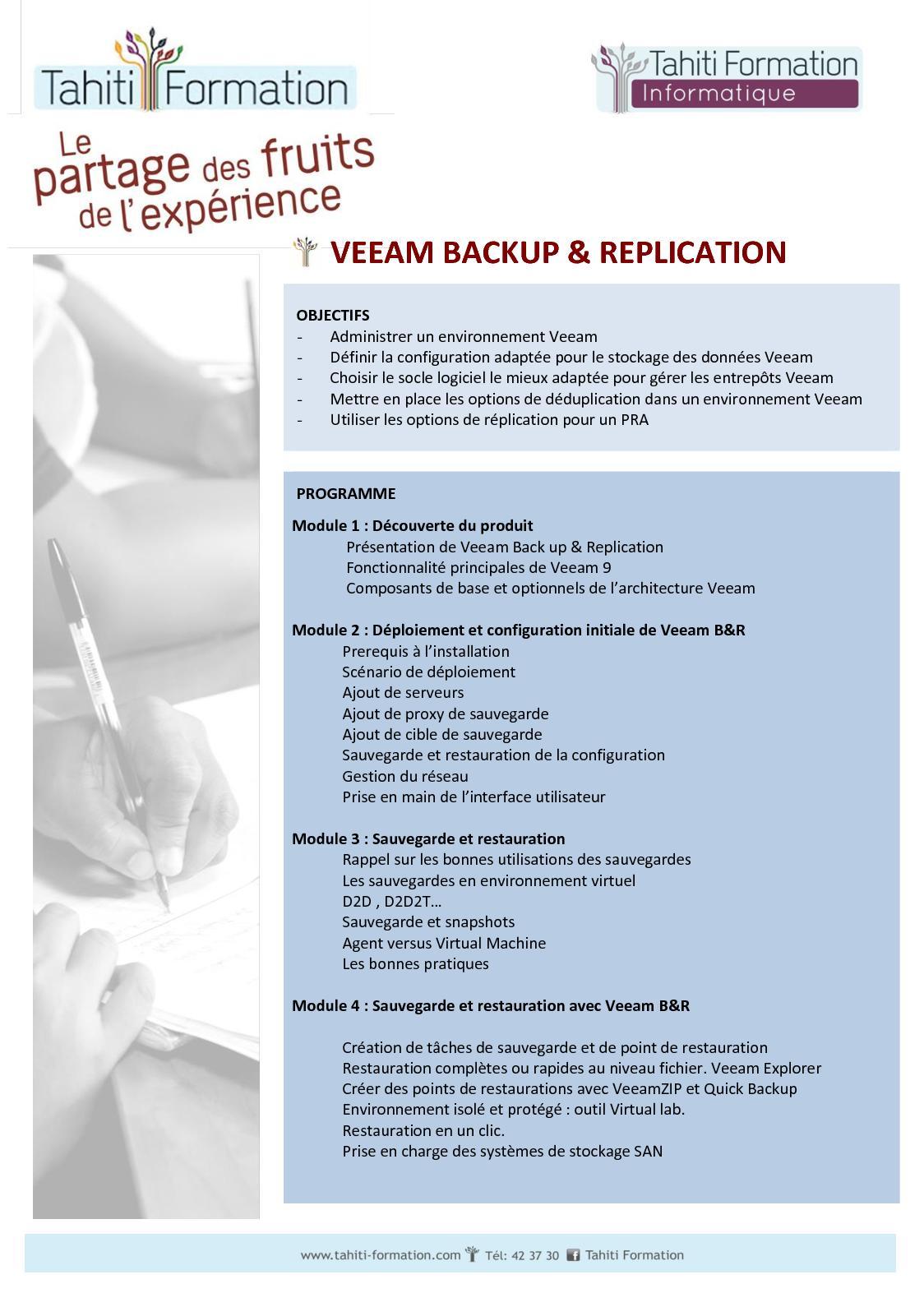Calaméo - Programme Veeam Backup & Replication