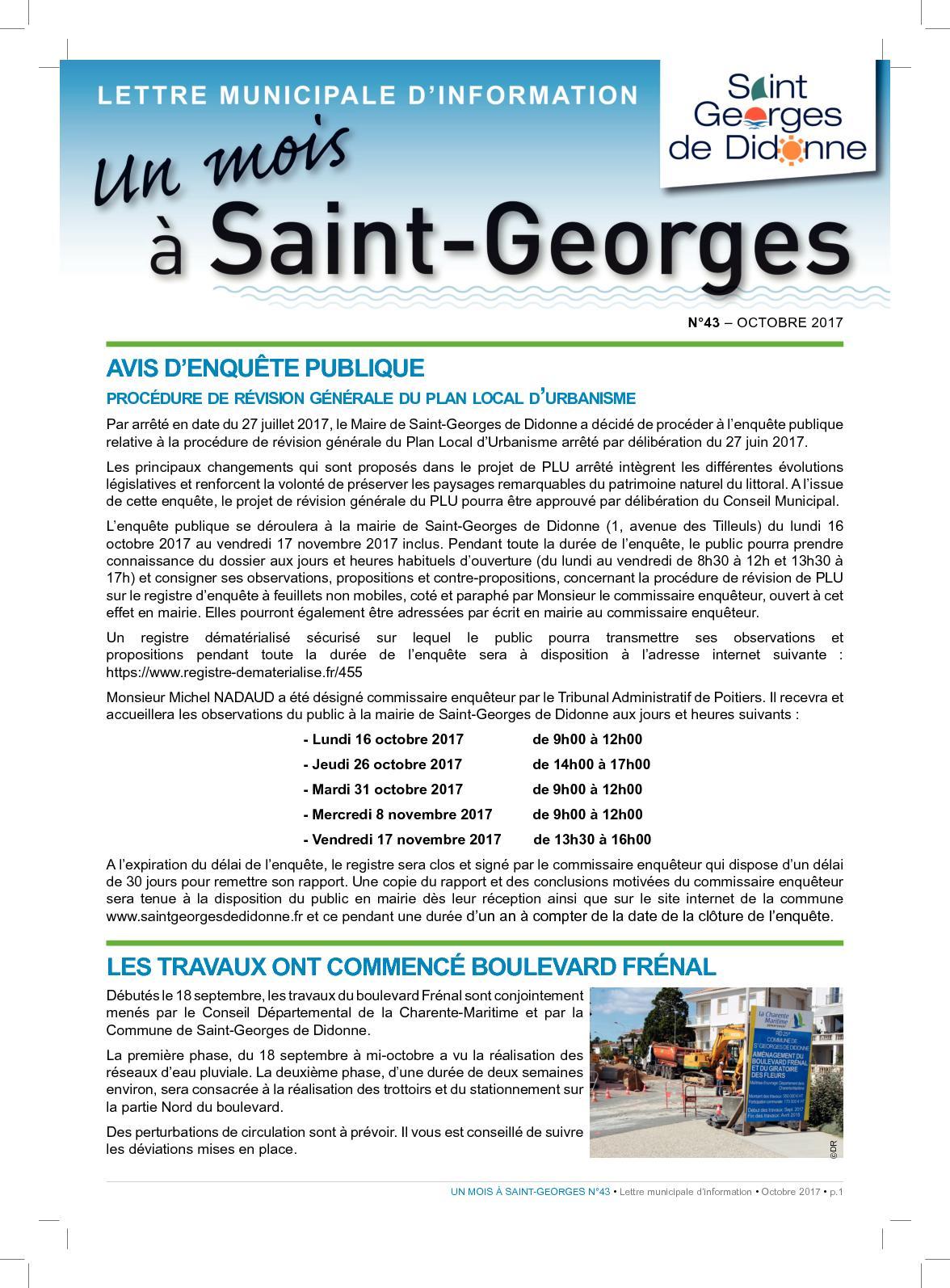 Anima Conseil Saint Georges De Didonne calaméo - n°43 octobre 2017