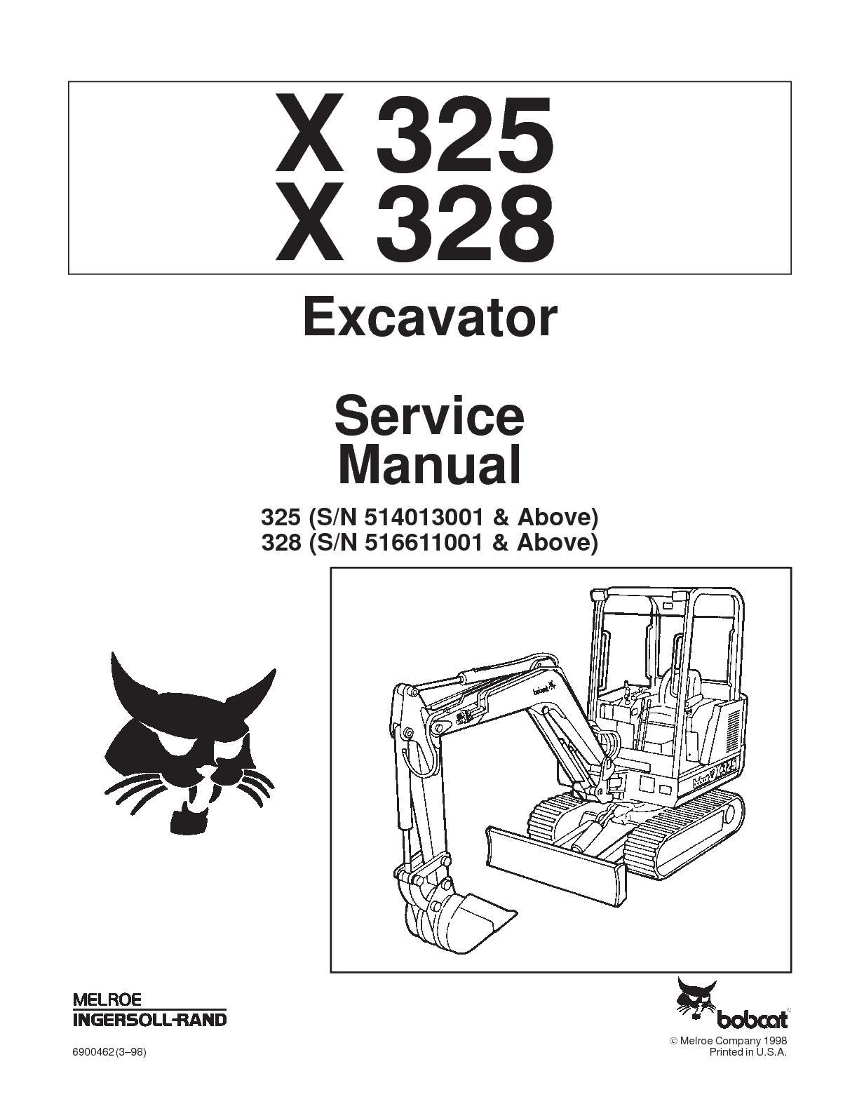 Calaméo - BOBCAT 325 COMPACT EXCAVATOR Service Repair Manual SN