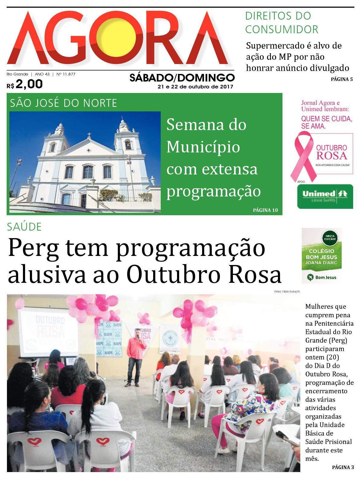 93f0701fc Calaméo - Jornal Agora - Edição 11877 - 21 e 22 de Outubro de 2017