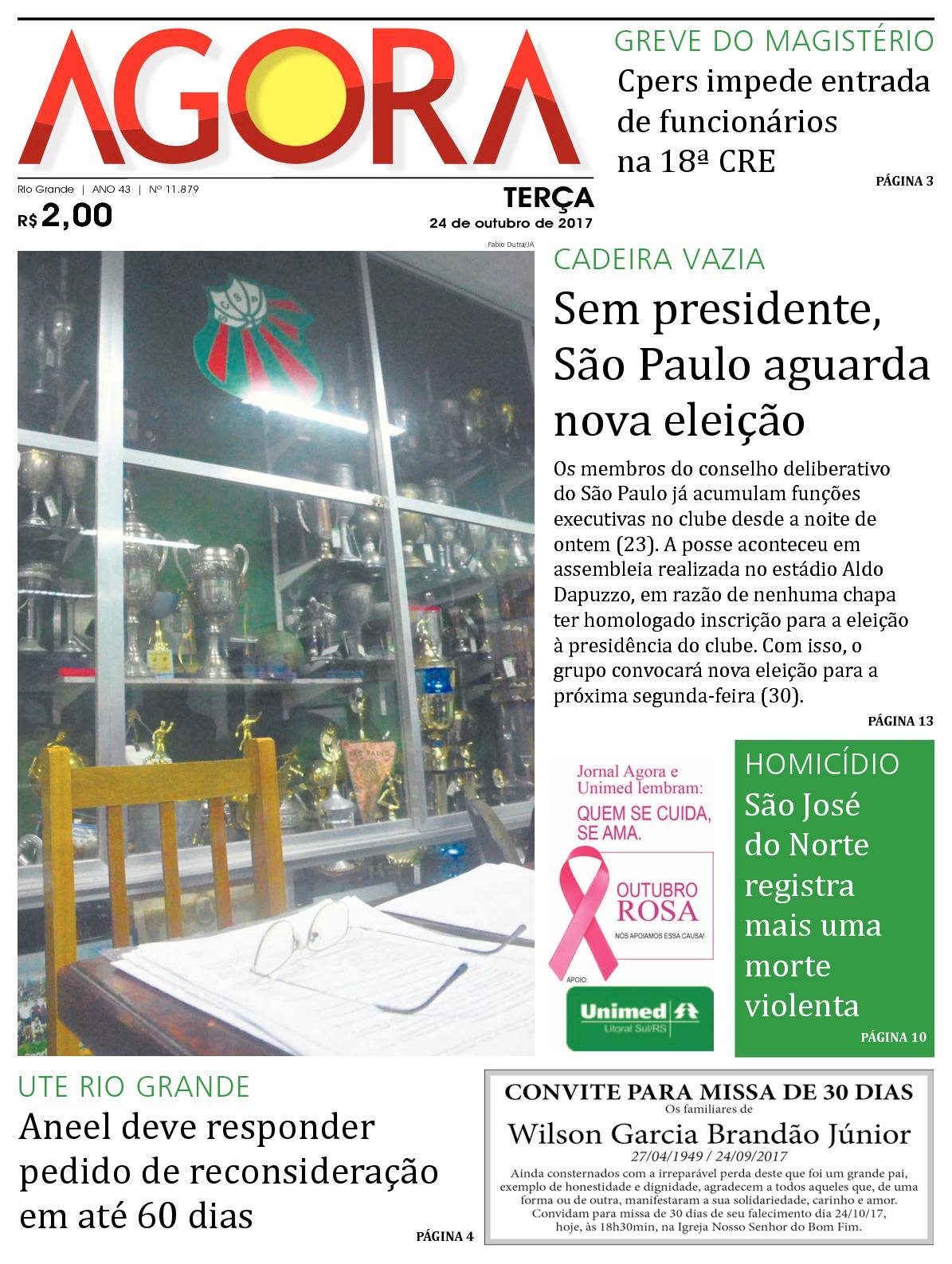 a8eb2ecf01a Calaméo - Jornal Agora - Edição 11879 - 24 de Outubro de 2017