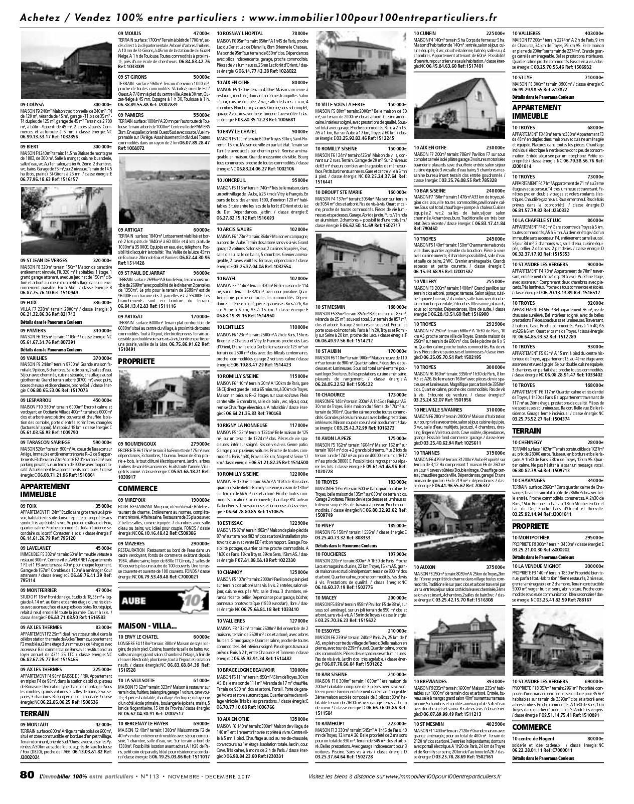 L Immobilier 100 Entre Particuliers Appelimmo N 113 Novembre