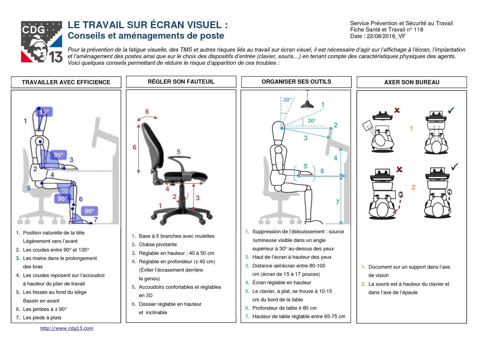 Hauteur Plan De Travail calaméo - st 118 le travail sur ecran visuel vf cdg 13