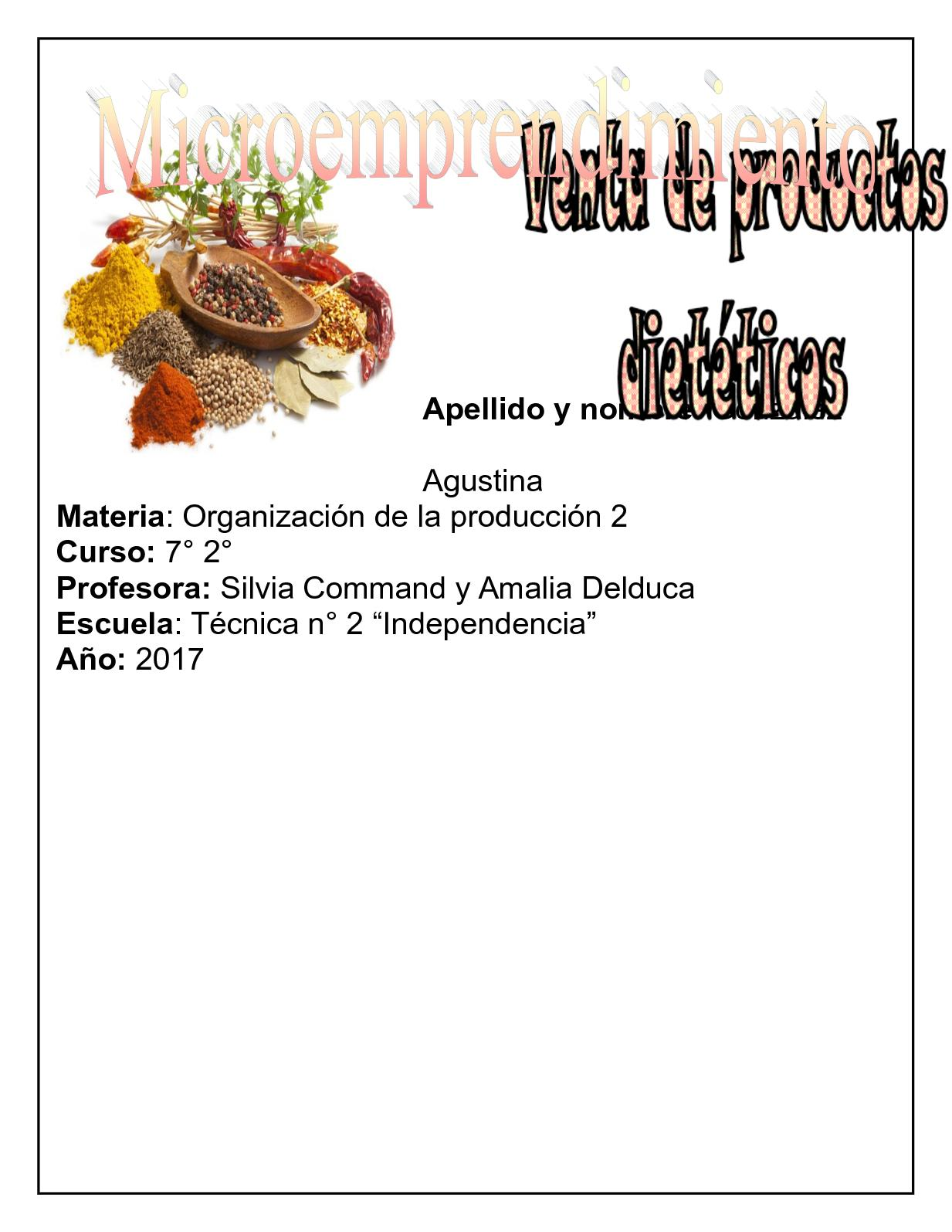 Calaméo - Trabajo Practico Microemprendimiento Agustina Gonzalez