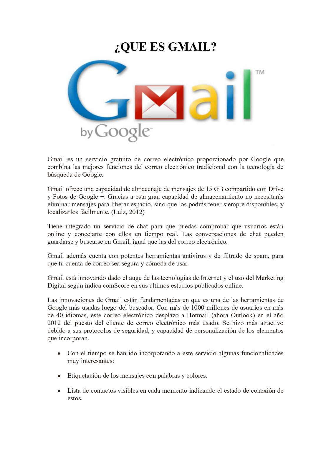 Gmail Spam Settings >> Calaméo - Que Es Gmail