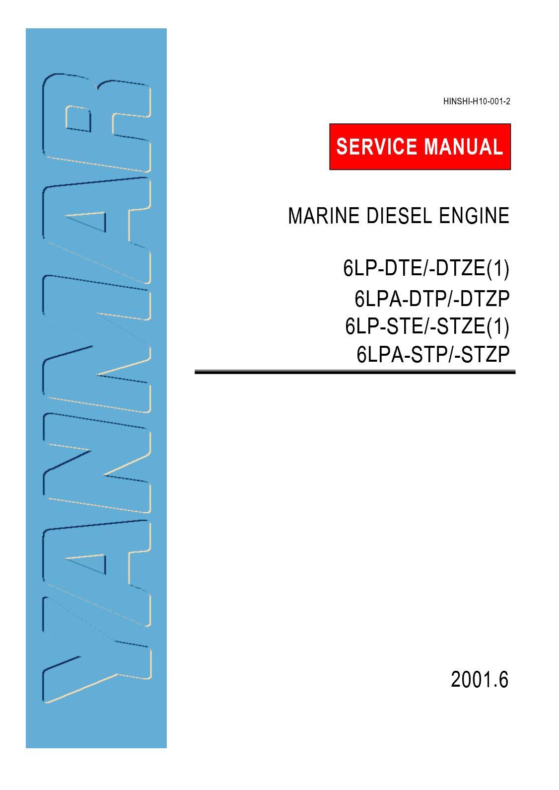 Calaméo - Yanmar 6LP STE Marine Diesel Engine Service Repair Manual
