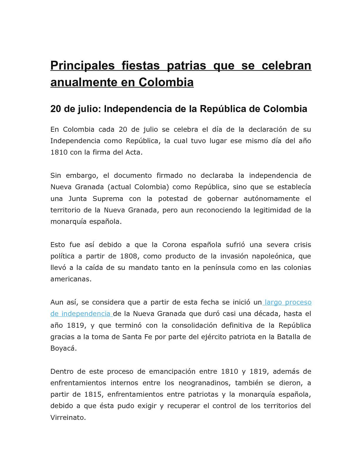 Calameo Fiestas Patrias De Colombia