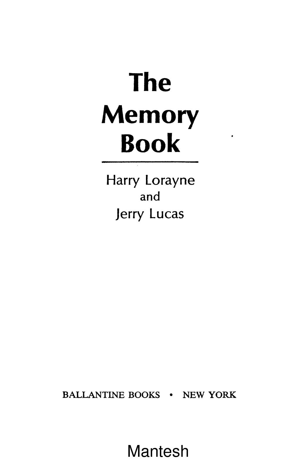 Improve Your Memory Book