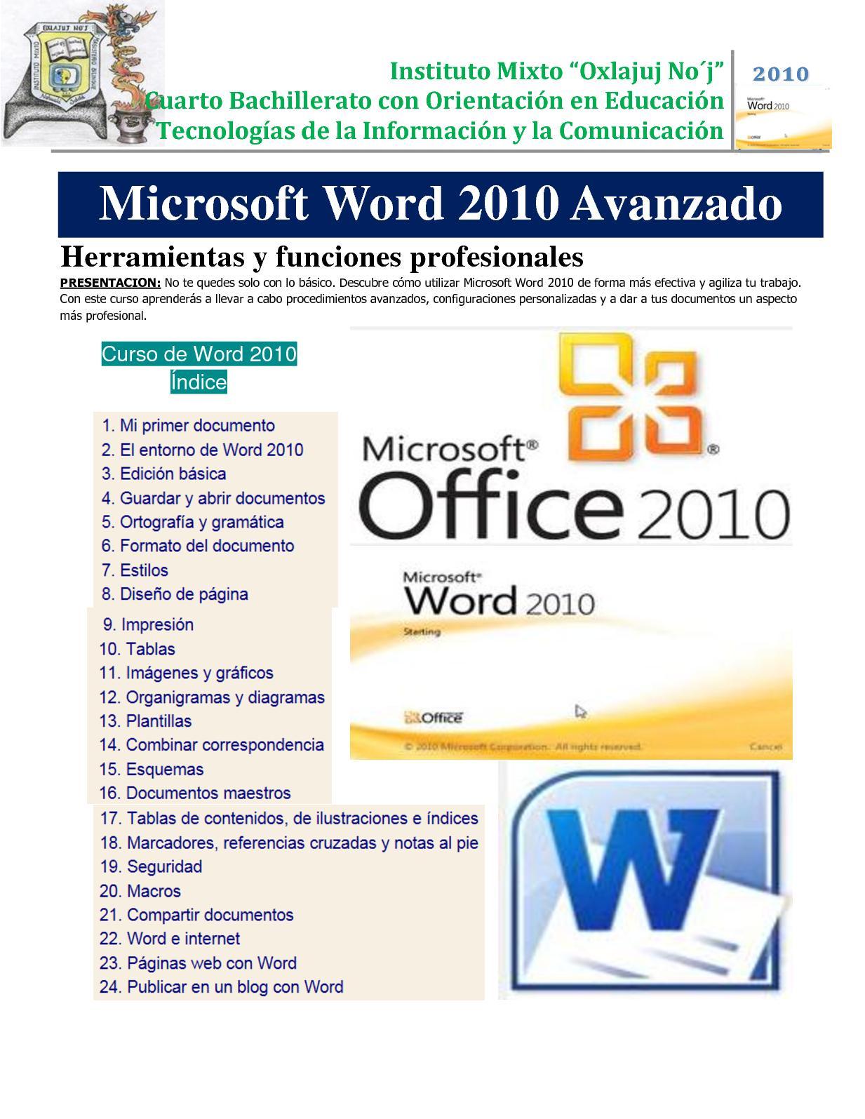 36a30a25b9b26 Calaméo - Clase Virtual Microsoft Word