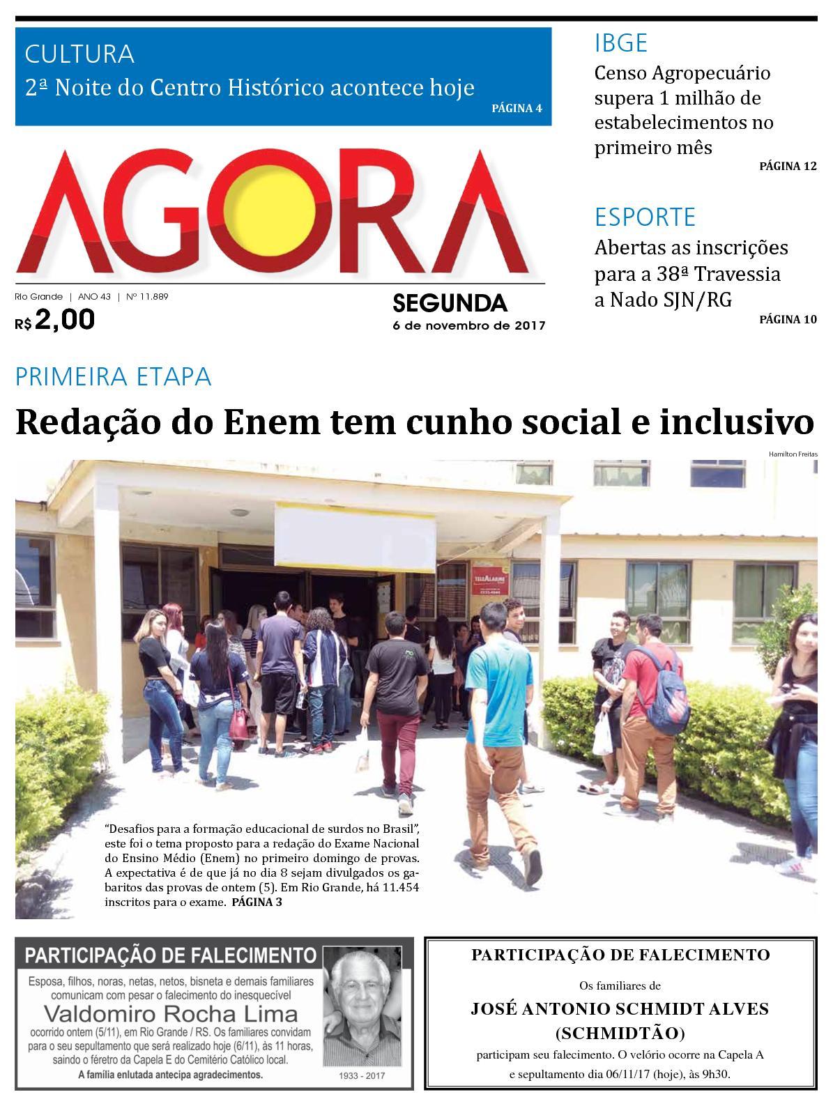 4802184b0 Calaméo - Jornal Agora - Edição 11889 - 6 de Novembro de 2017