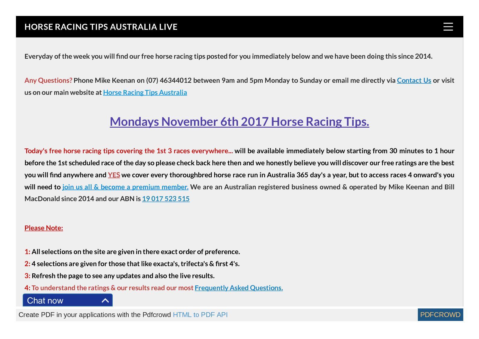 Calaméo - Mondays November 6th Free Horse Racing Tips