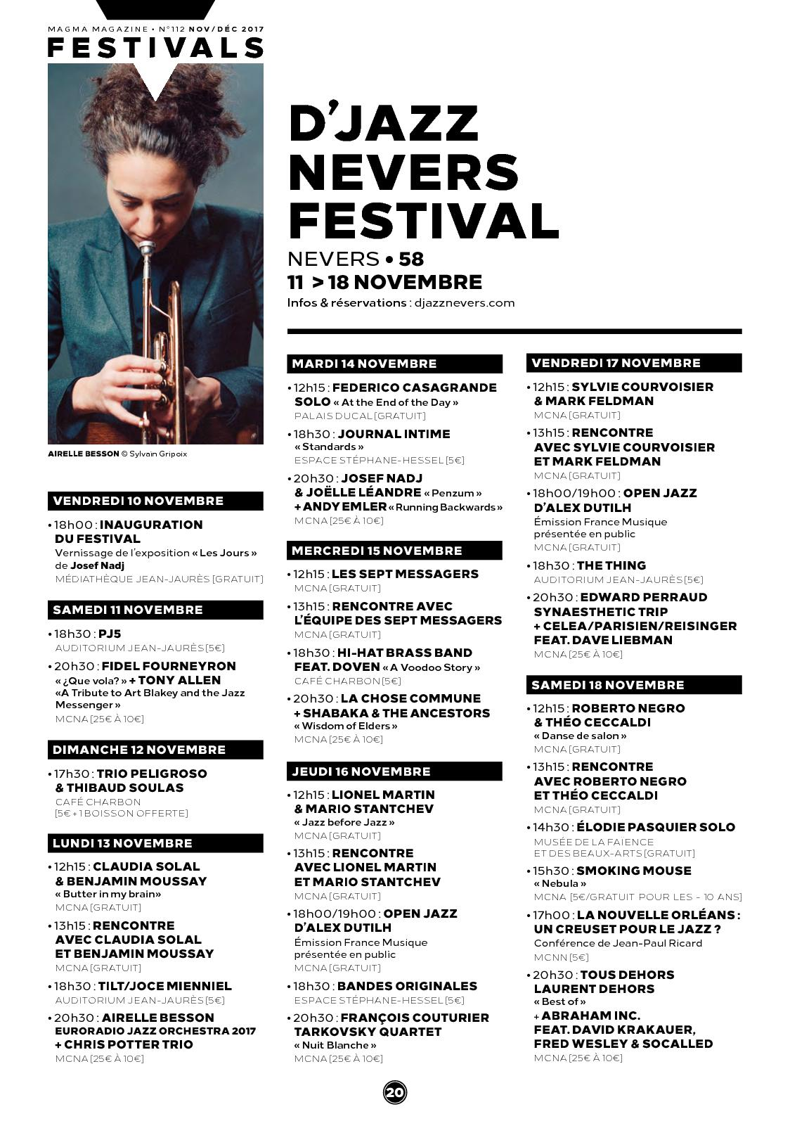 rencontres jazz nevers