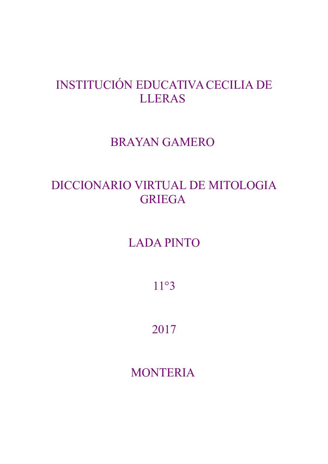 De Gamero Griega La Calaméo Brayan Virtual Diccionario Mitología 08nwPOk