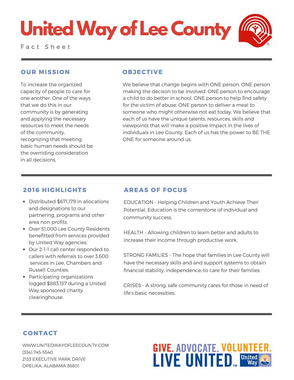 Focus Lee County >> Calameo Fact Sheet
