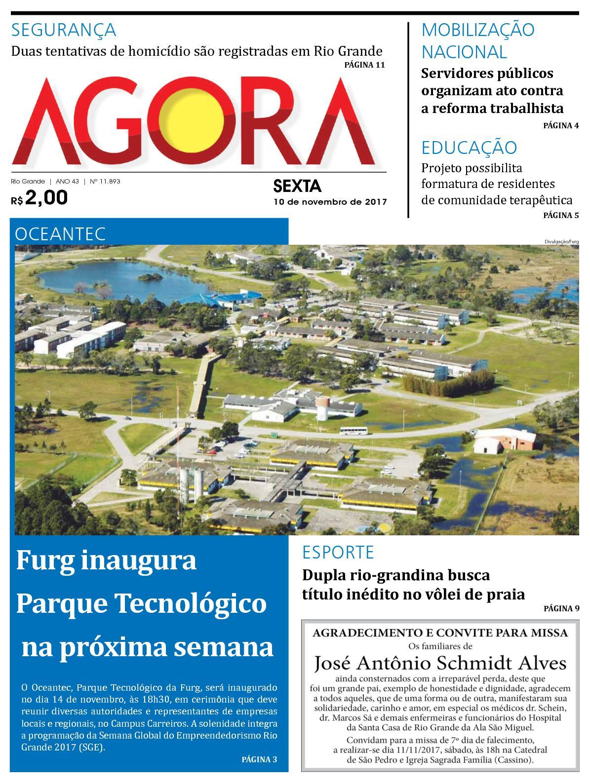 f6b1e8587 Calaméo - Jornal Agora - Edição 11893 - 10 de Novembro de 2017