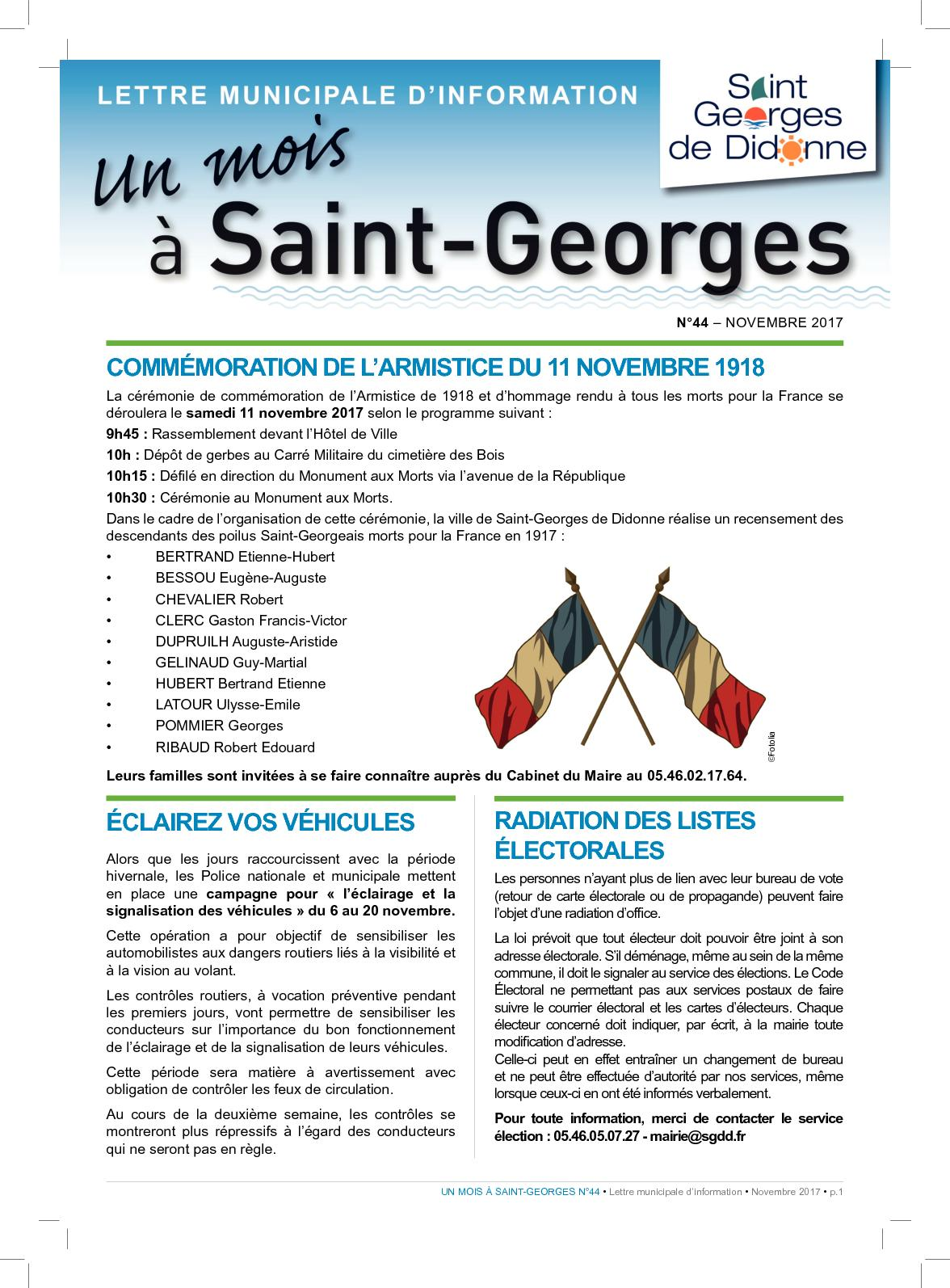 Anima Conseil Saint Georges De Didonne calaméo - n°44 novembre 2017