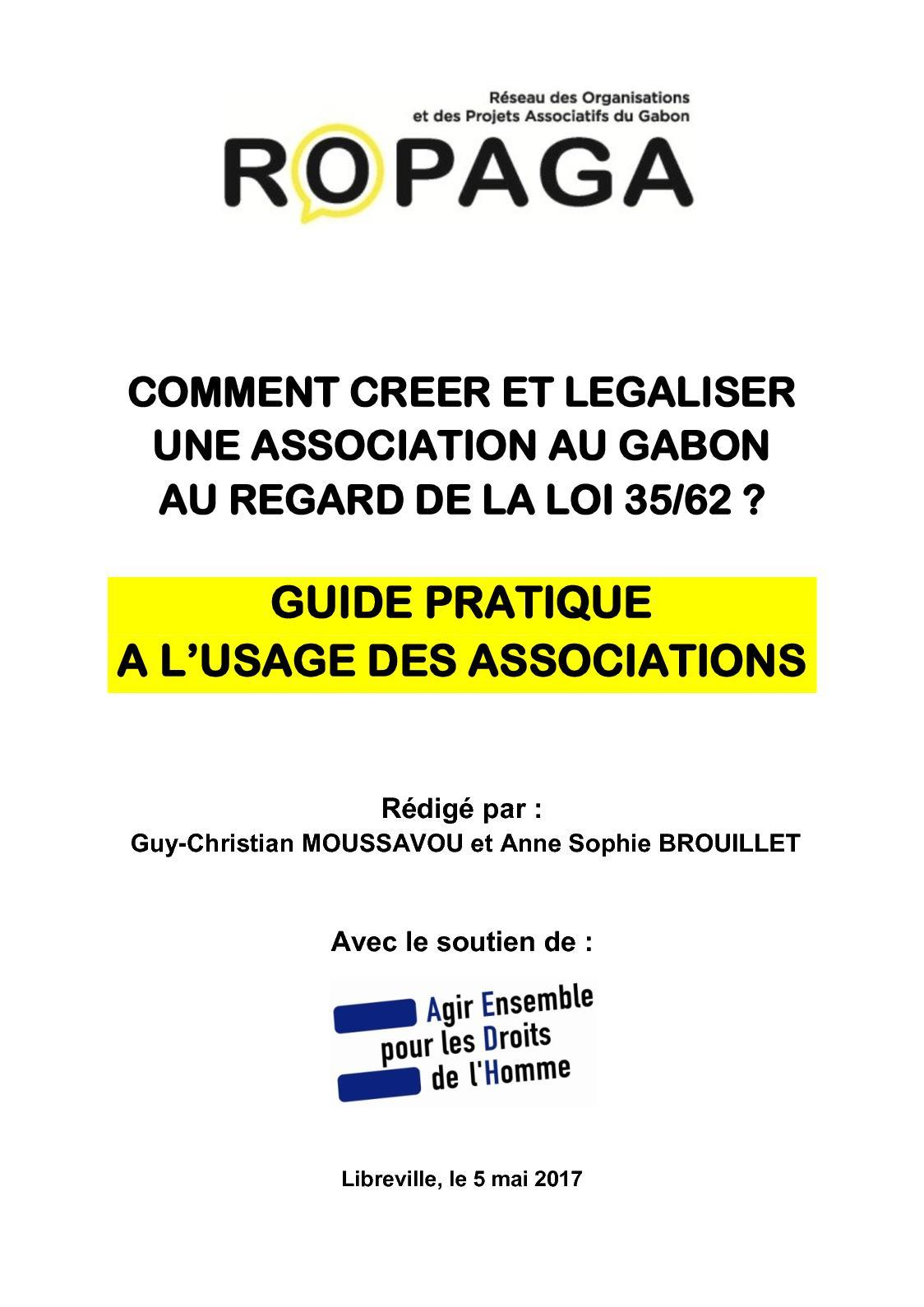 Calameo Gabon Guide Pratique Aux Associtions Loi 35 62