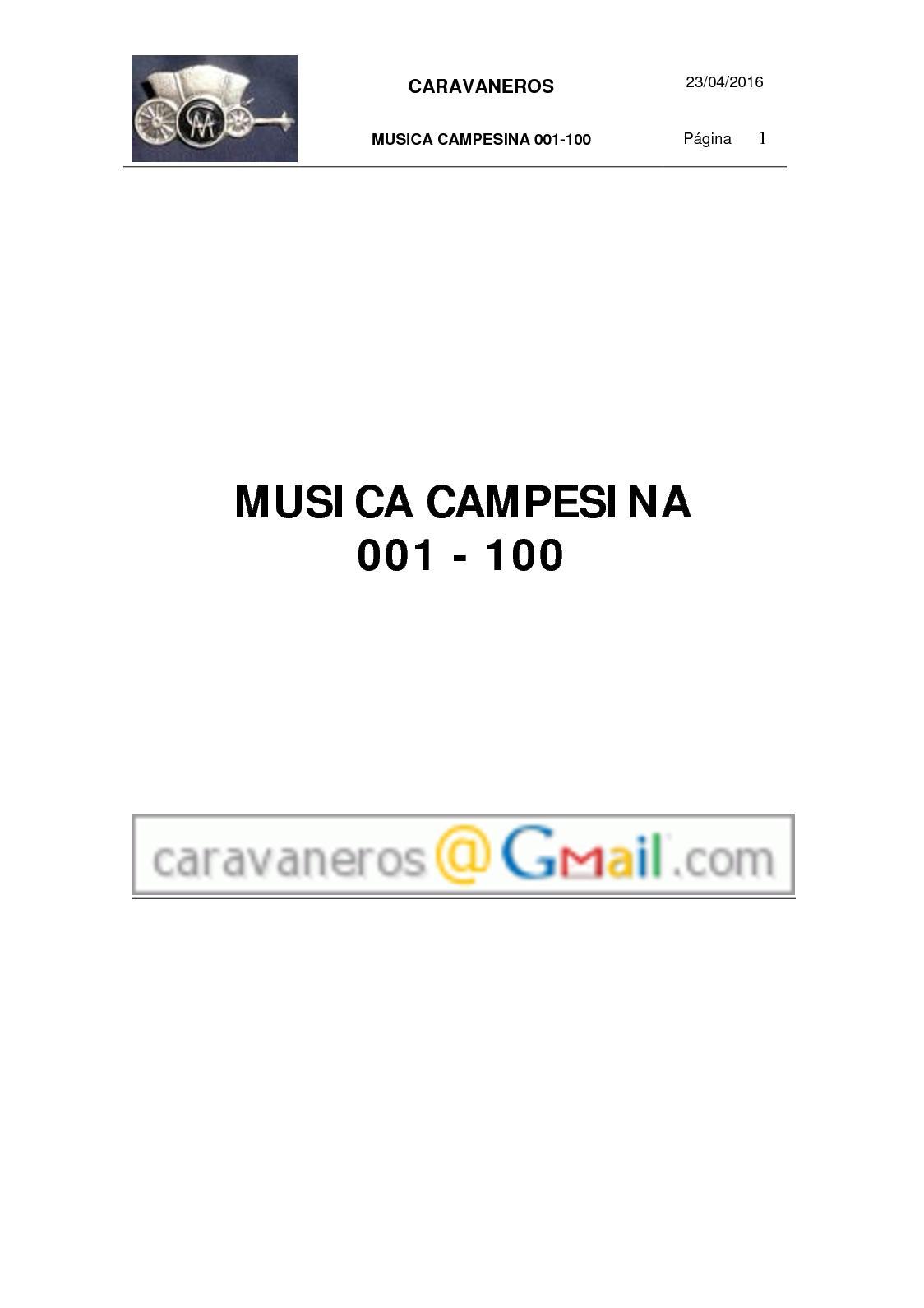 Calaméo - Caravaneros Memoria 10 01 Música Campesina 001 100 e6d3500adcf