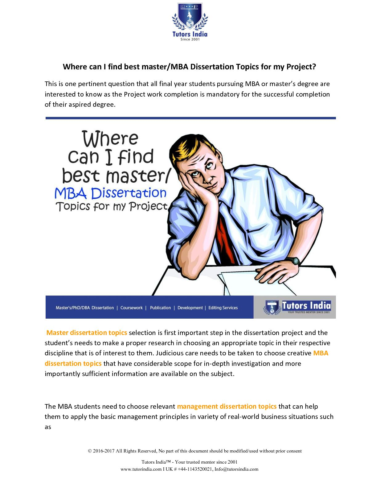 Calaméo - Where Can I Find Best Master Mba Dissertation