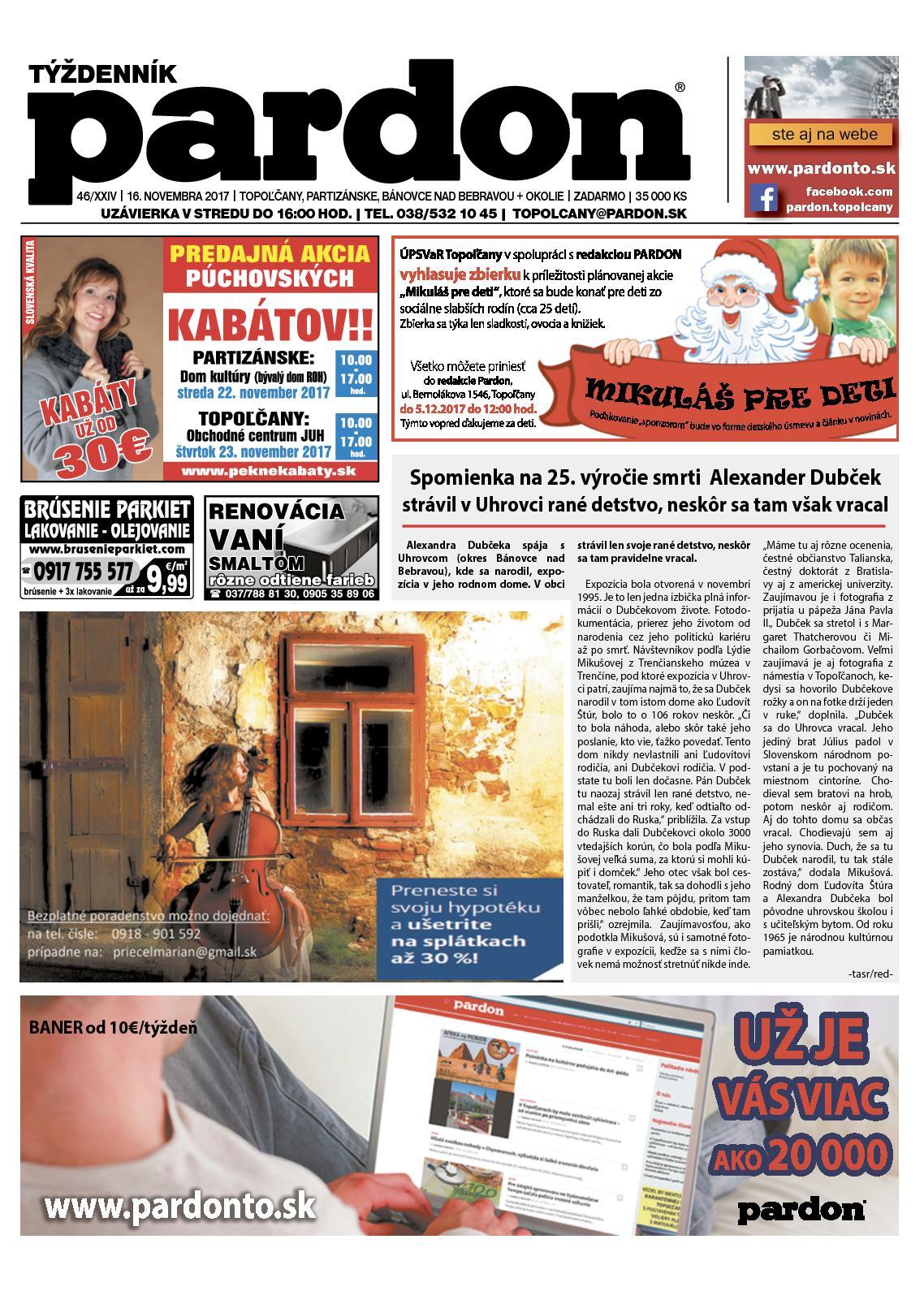 29d054bf0a4e Calaméo - Pardon Topoľčany 46 2017