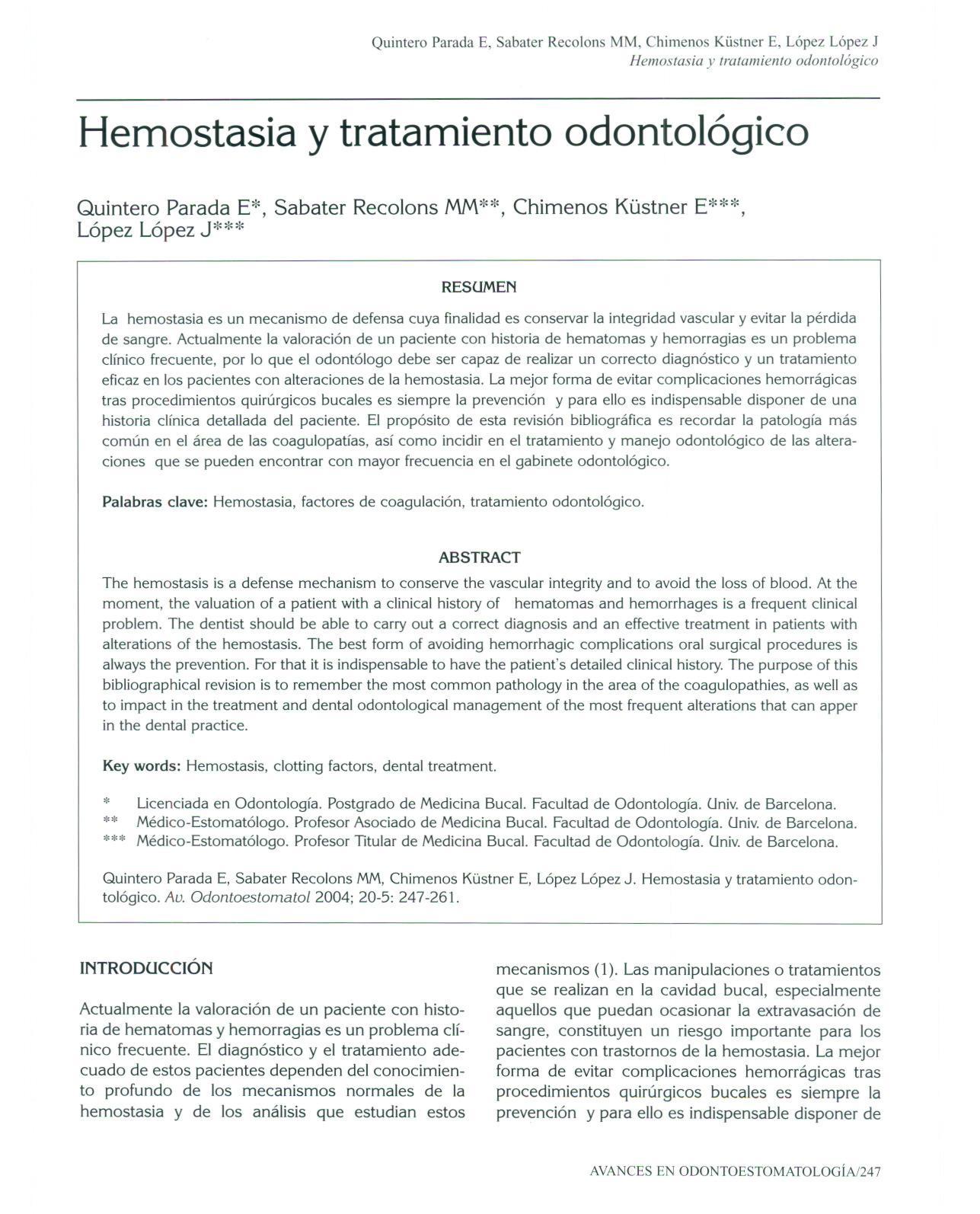 factores de la hemostasia