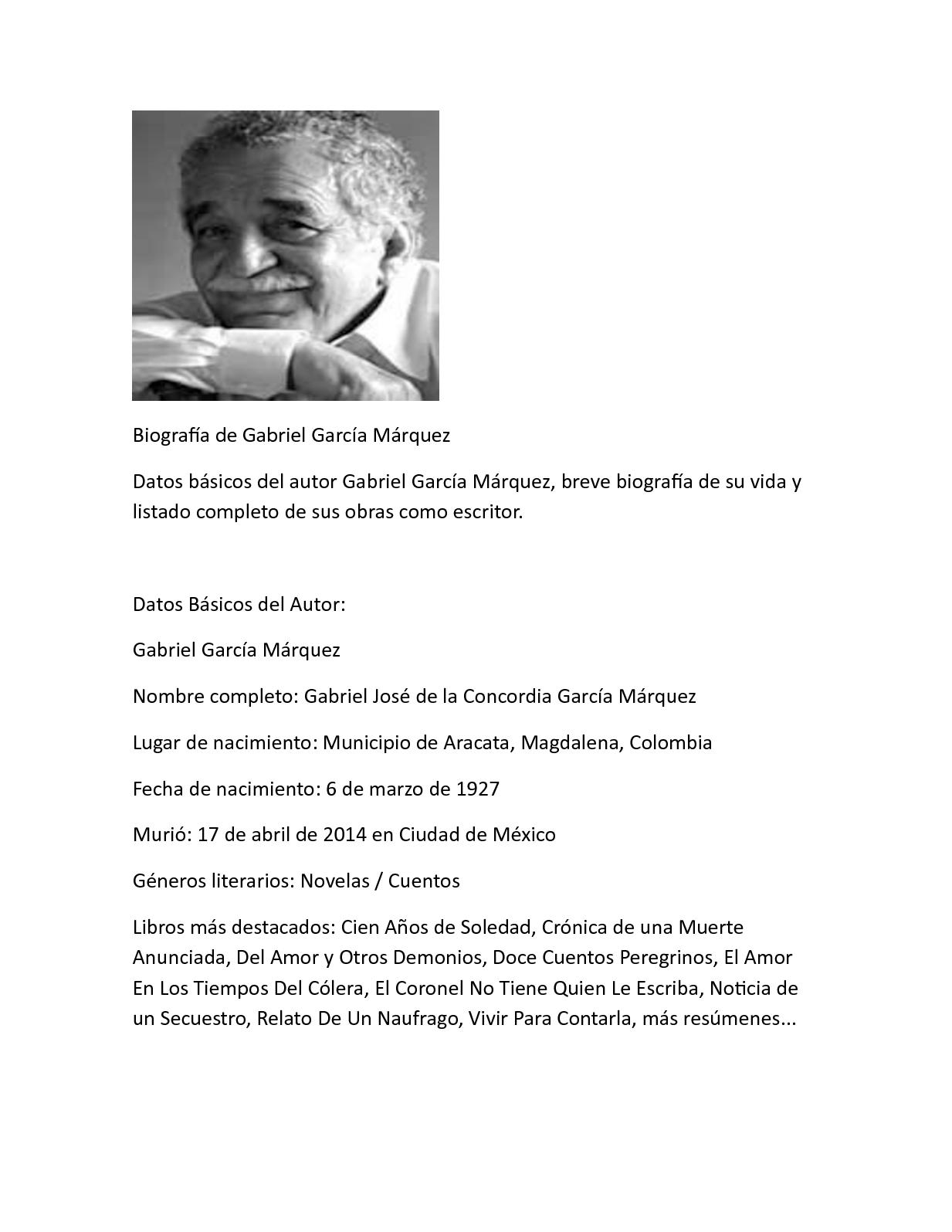 Calaméo Biografía De Gabriel García Márquez
