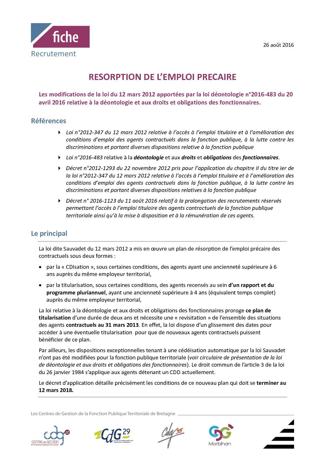 4d0fff933b4 Calaméo - Fiche Technique Resorption Emploi Precaire Mutualisee