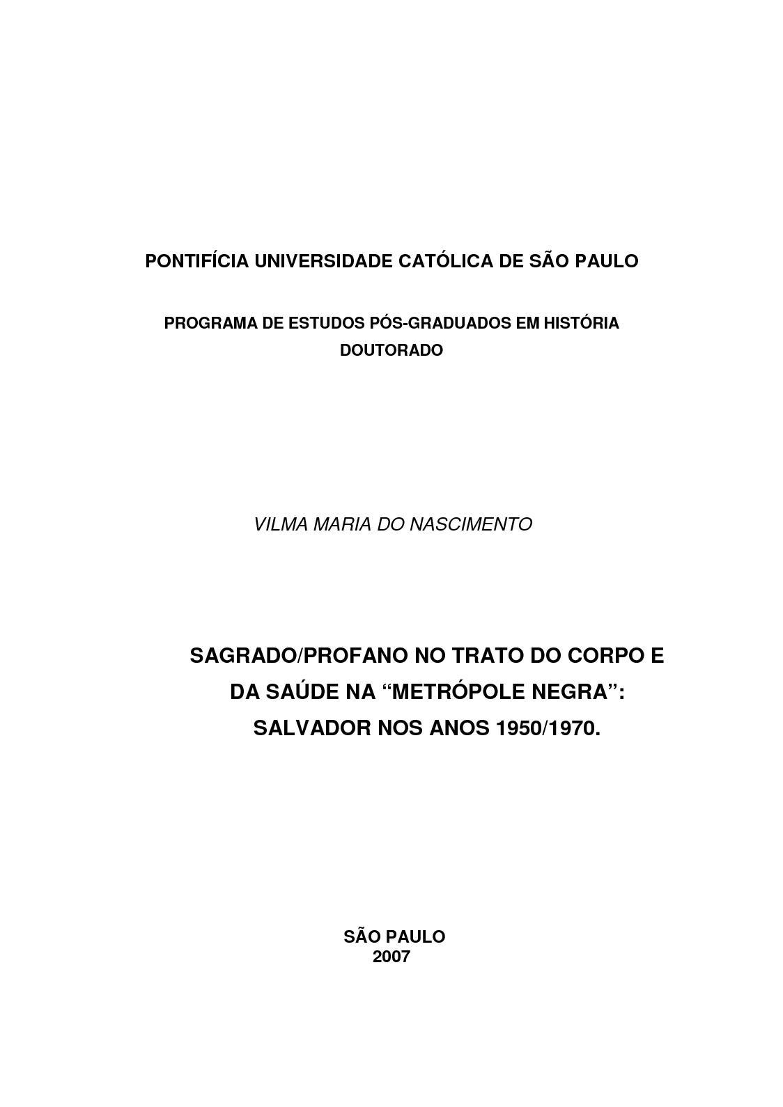 b2f3e85daa Calaméo - Metropole Negra  Salvador nos Anos 50 70   Vilma Maria do  Nascimento - PUC SP