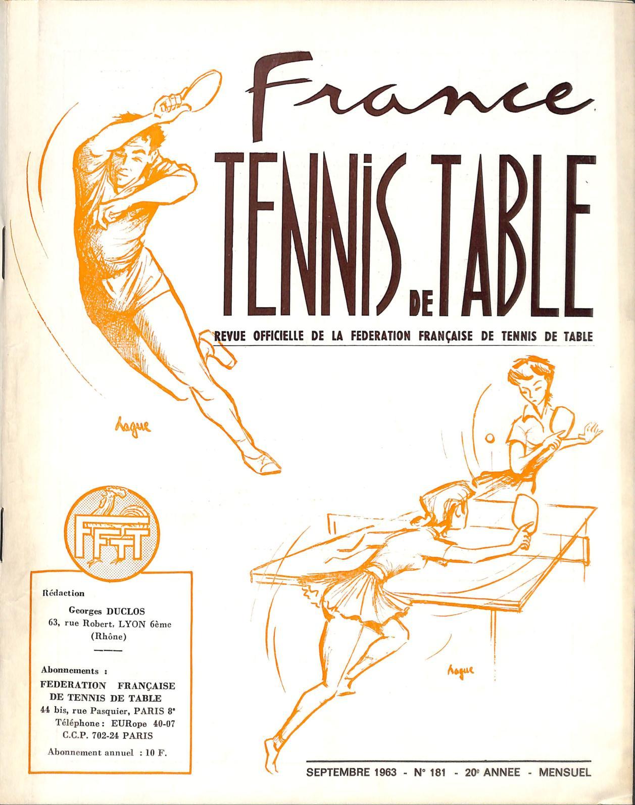 Calameo 1963 09 181 France Tennis De Table