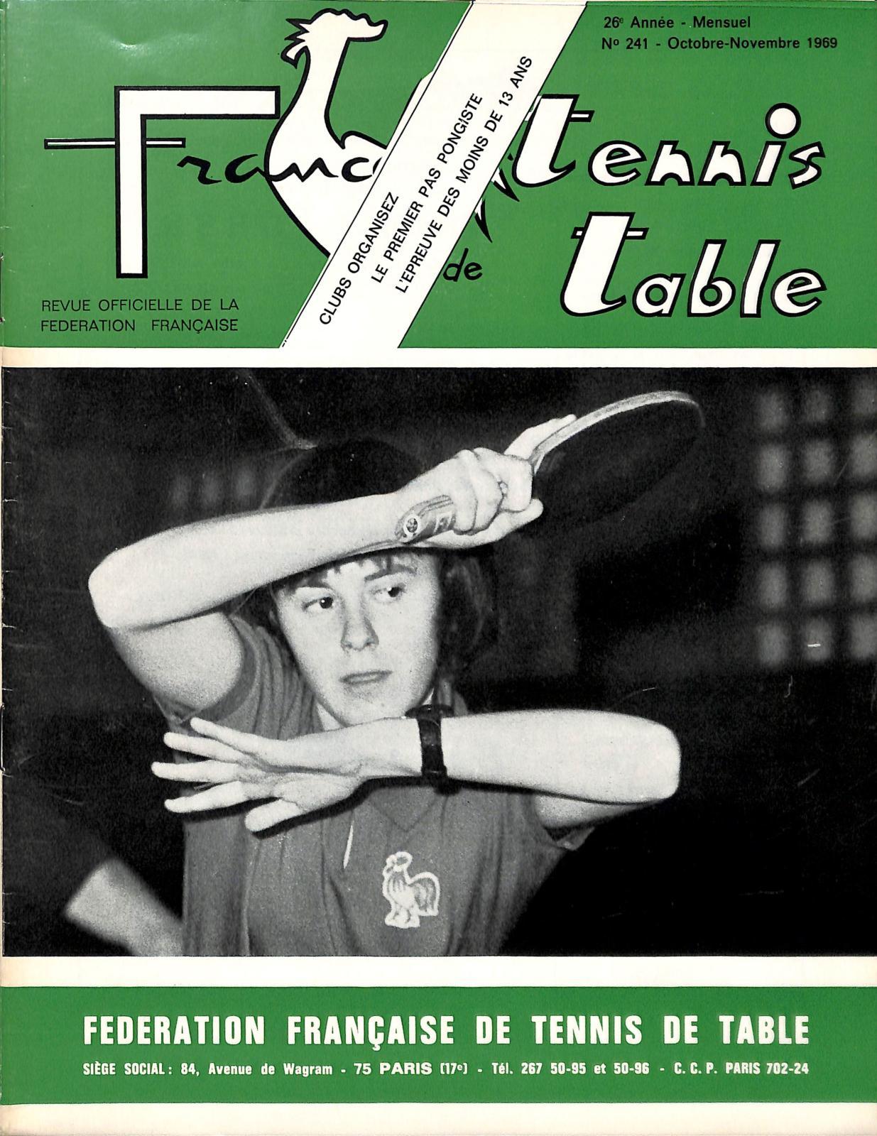 Calameo 1969 10 11 241 France Tennis De Table