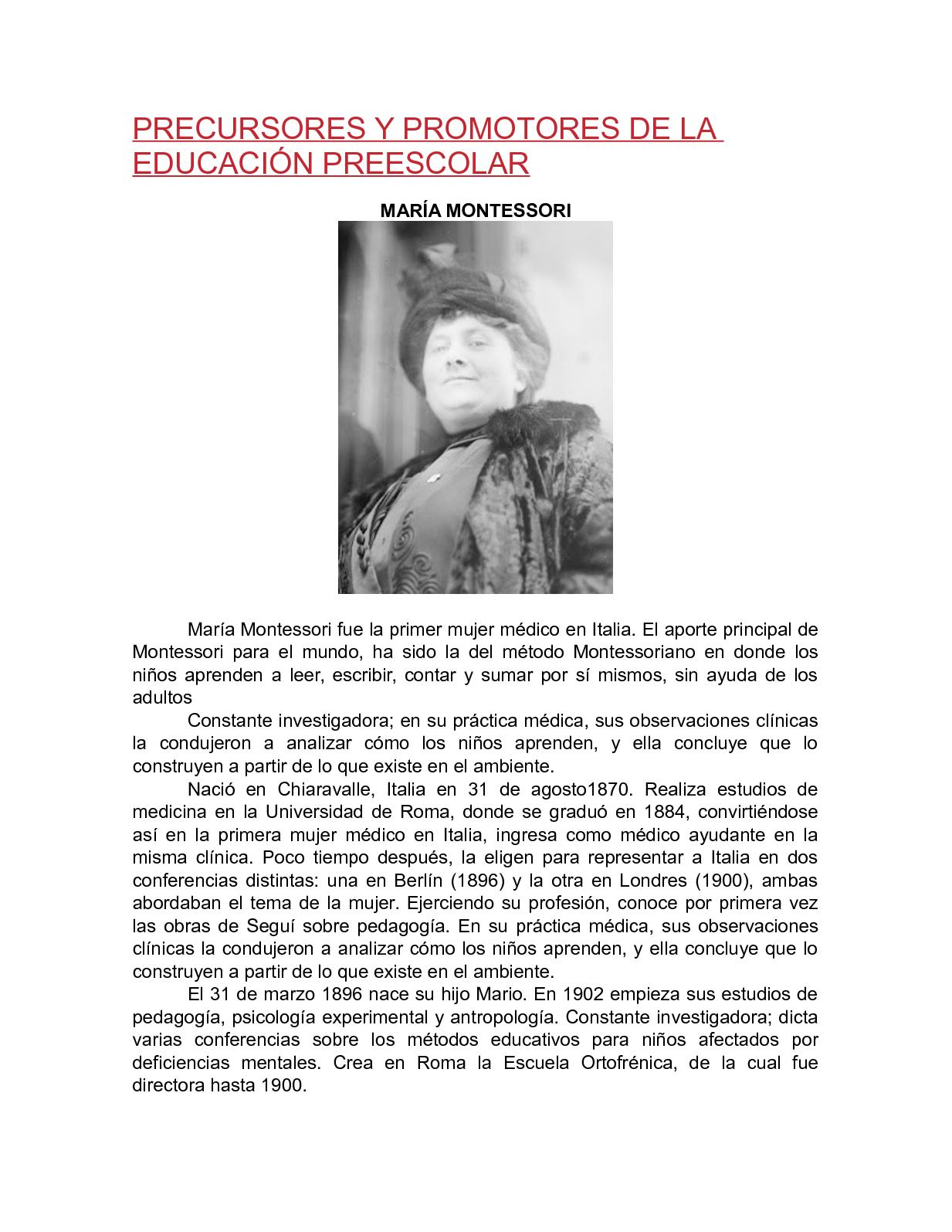 Calaméo Precursores Y Promotores De La Educación Preescolar