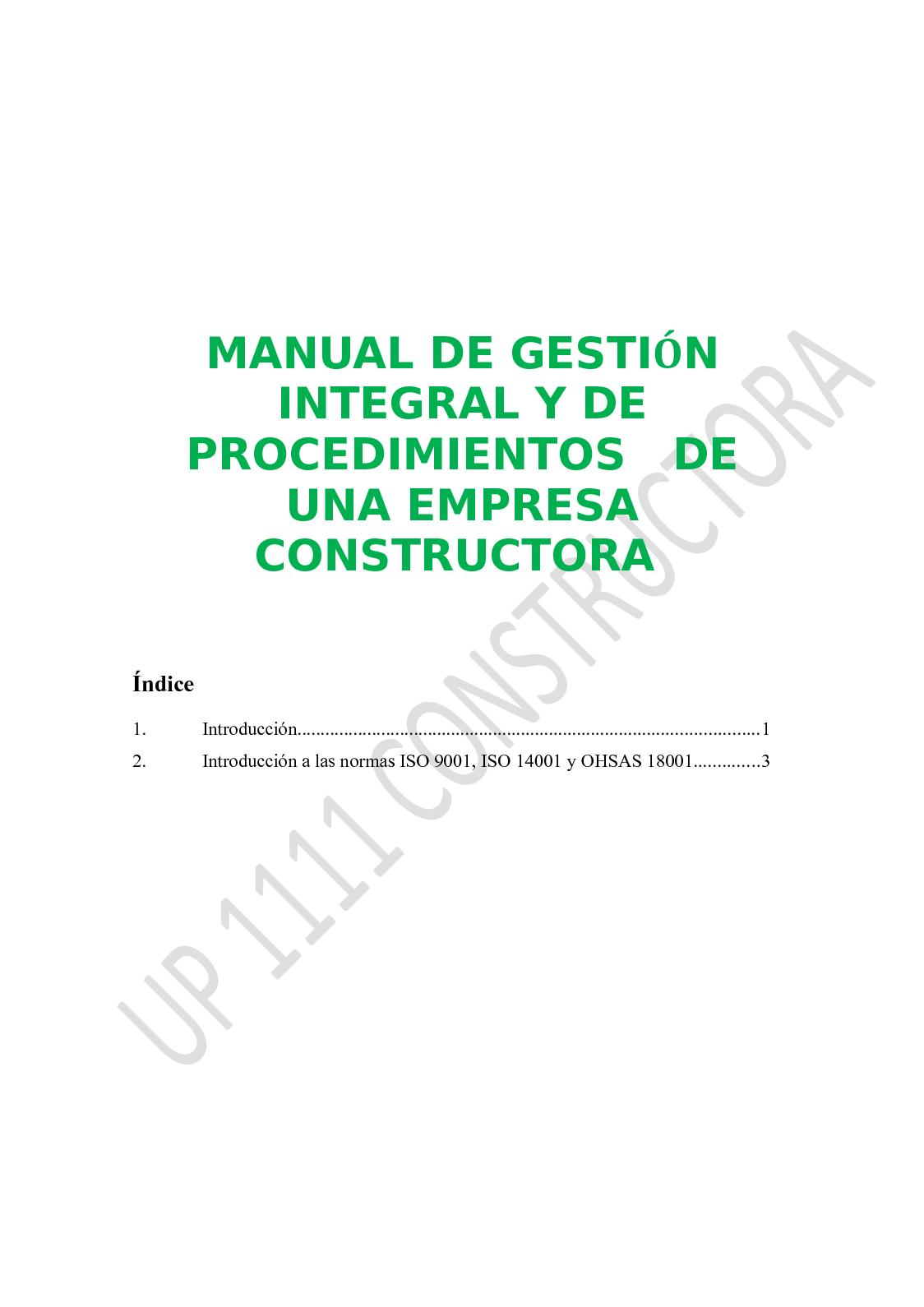 Manual De Gestion Integral Up 1111 Constructora