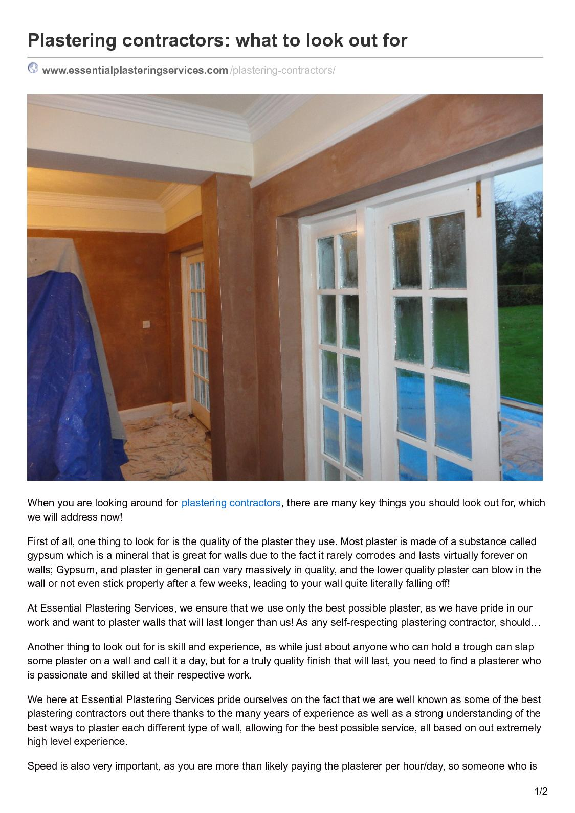Calaméo - Plastering Contractors What To Look Out For