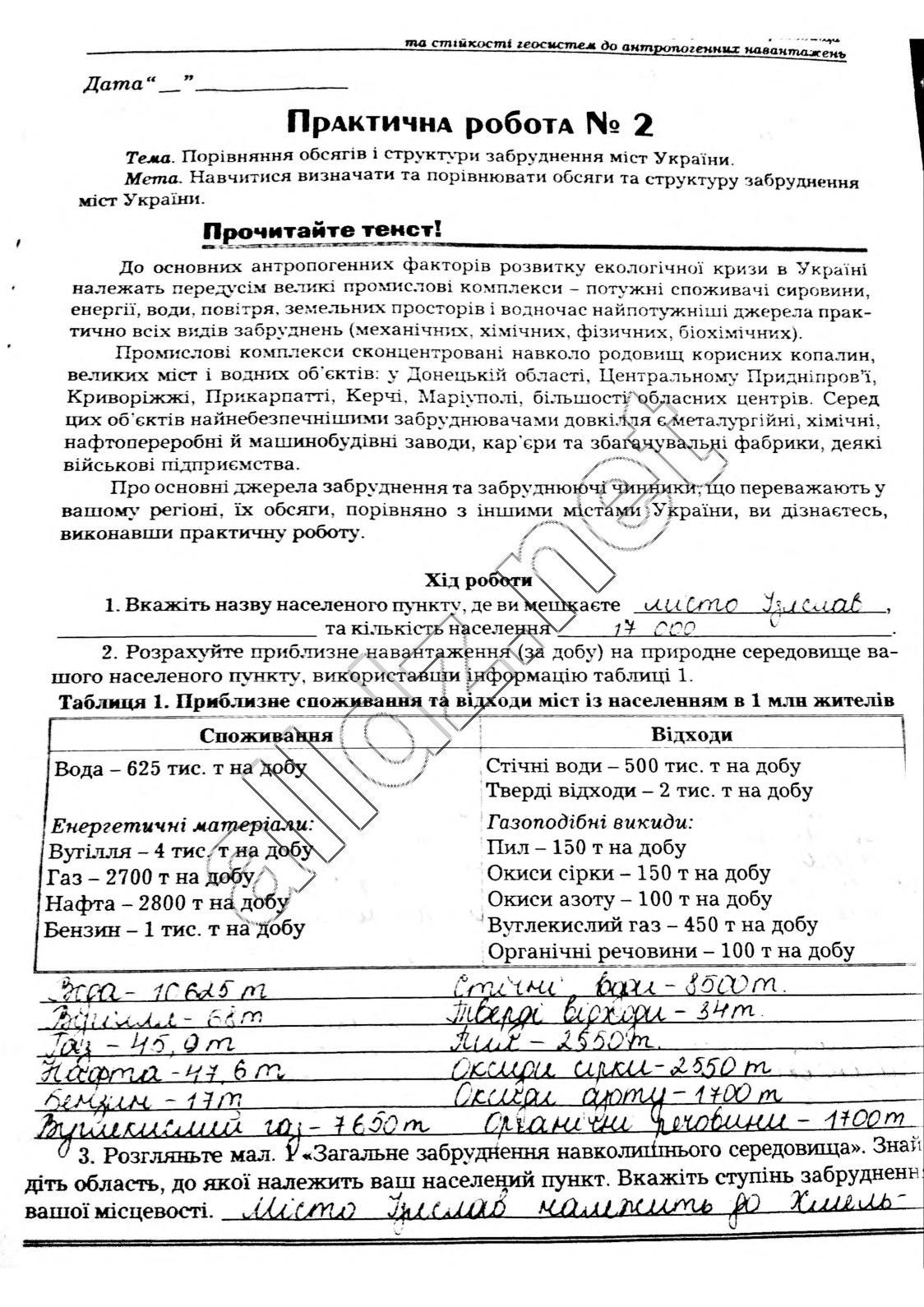 гдз екологя 11 клас шаламова-харченко вдповд