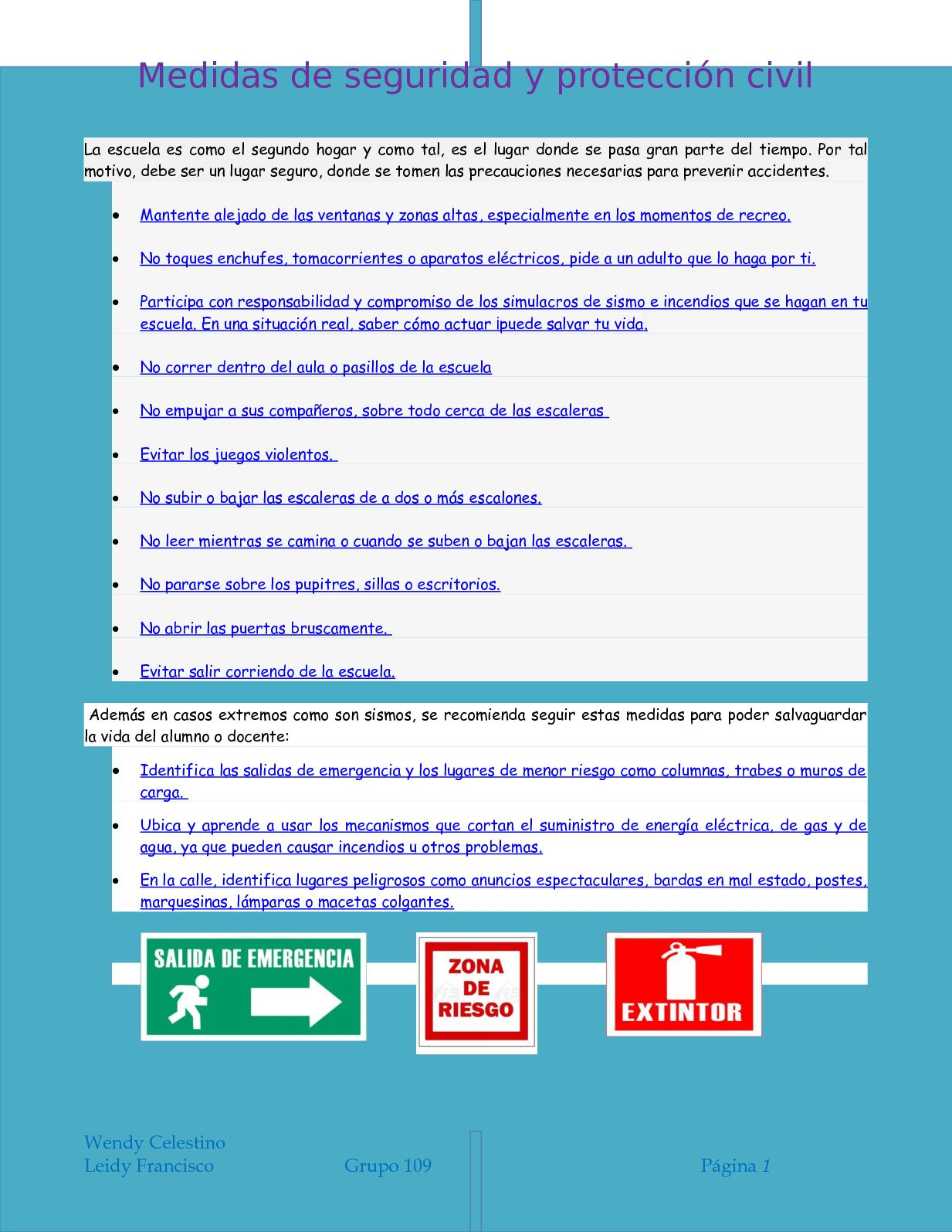 Calameo Medidas De Seguridad Y Proteccion Civil