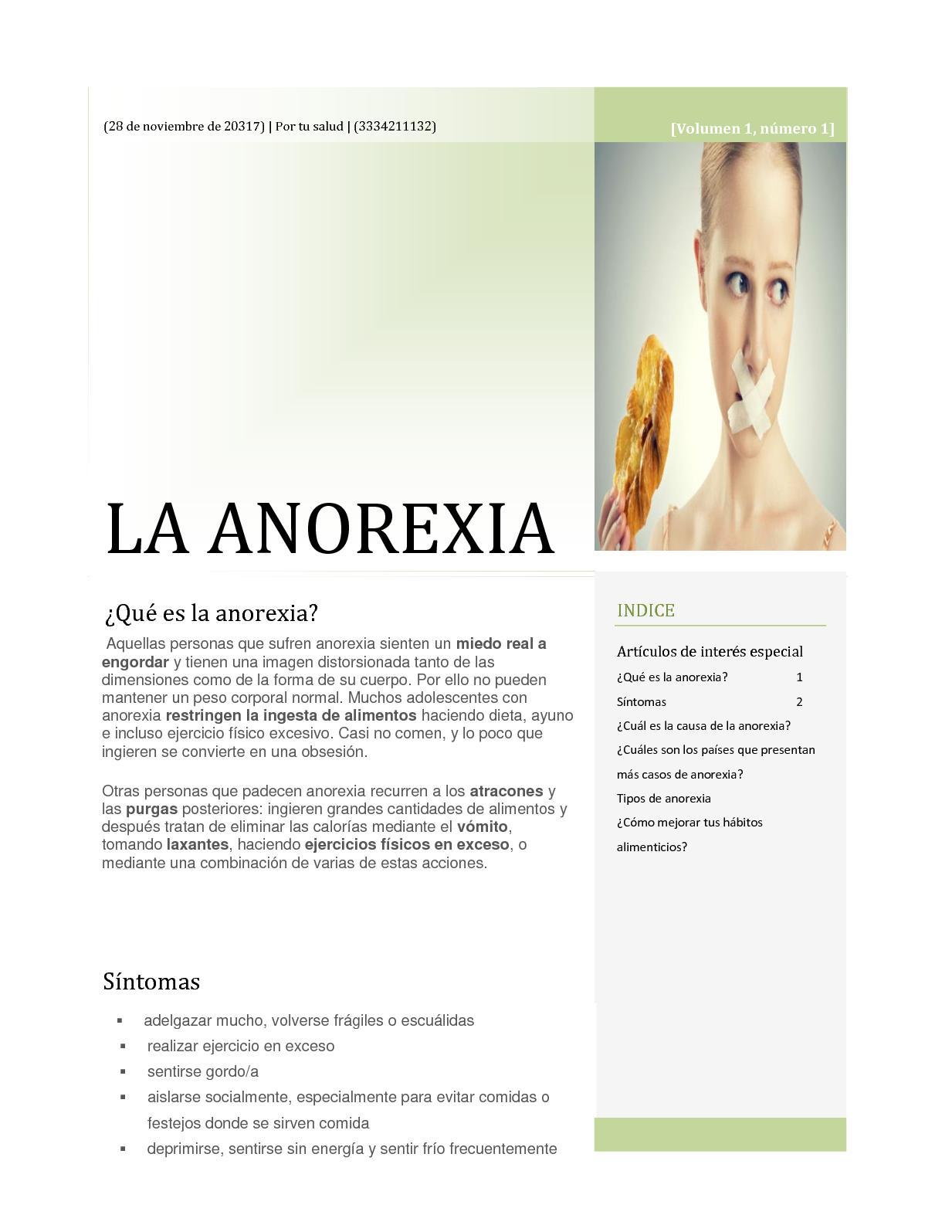 laxantes para adelgazar anorexia vs bulimia
