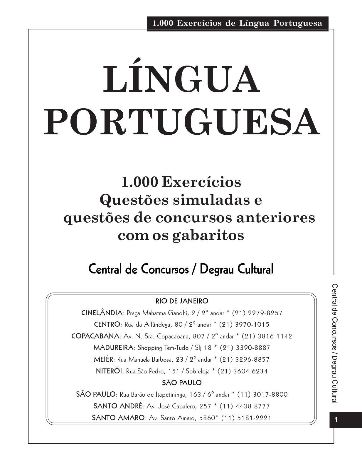 Calaméo - 1 000 Exercícios De Língua Portuguesa 1 ffb72d6efa