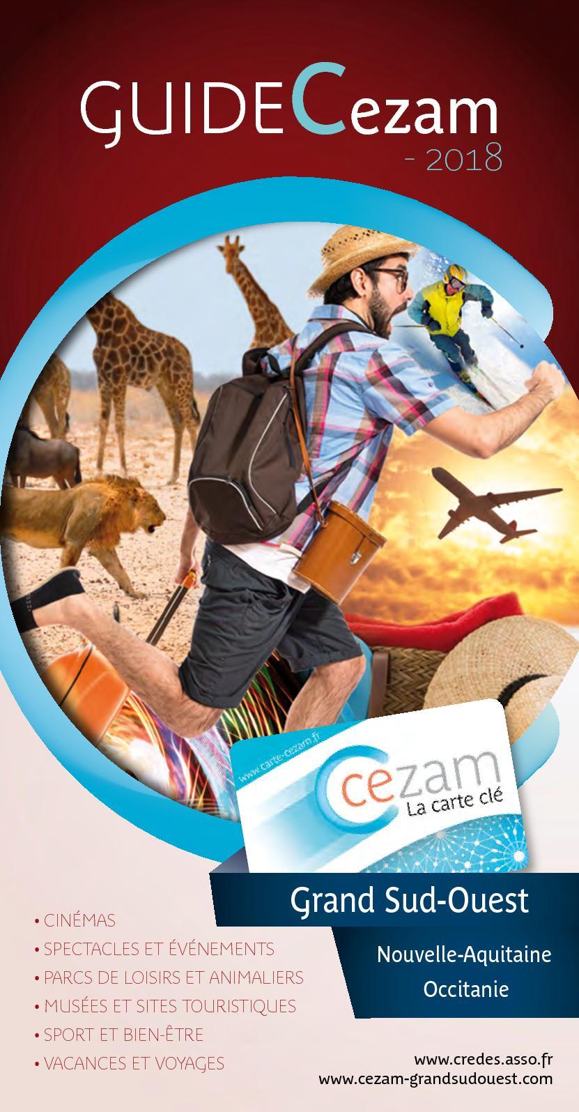 Carte Cezam Vallee Des Singes.Calameo Guide Cezam Grand Sud Ouest 2018 Web