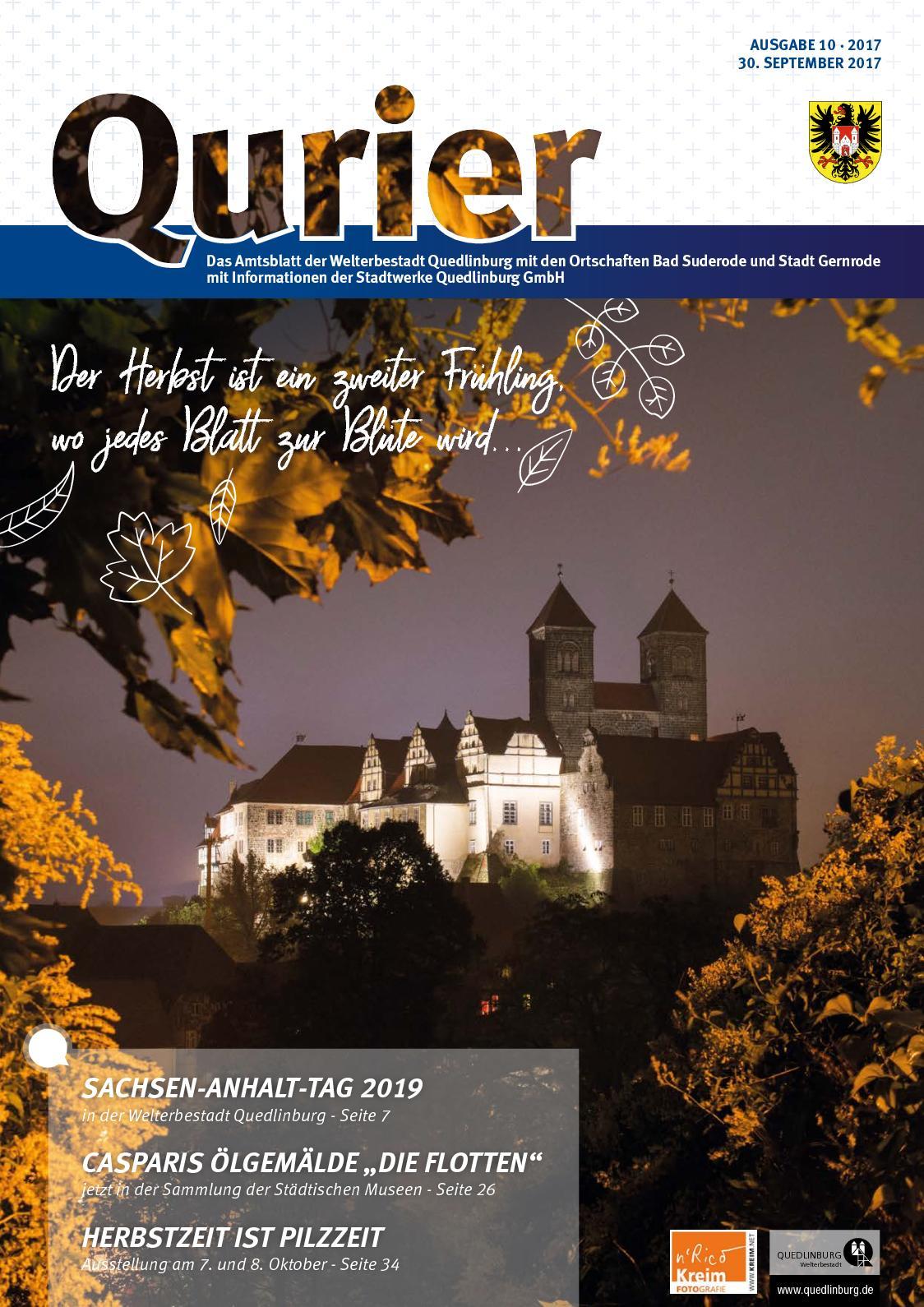 Calameo Qurier 10 2017 Vom 30 09 2017 Das Amtsblatt Der