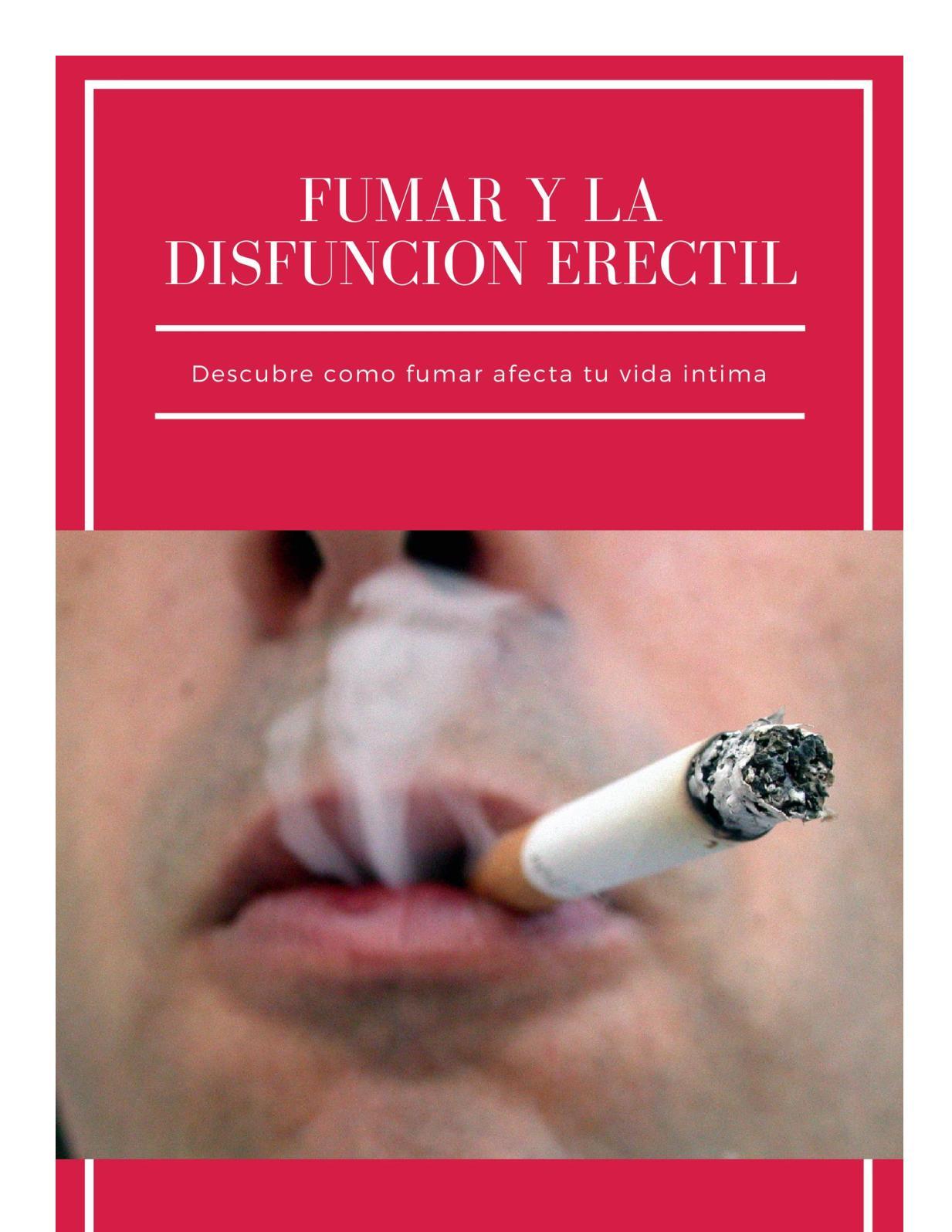 ¿La nicotina se vuelve disfunción eréctil?
