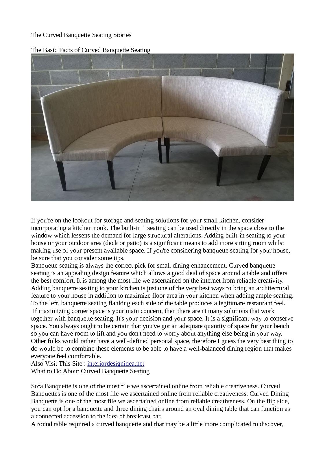 Calameo The Curved Banquette Seating Stories