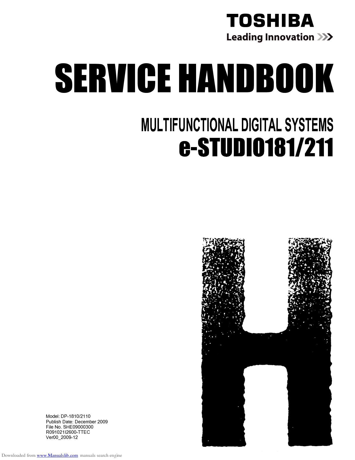 toshiba estudio 202s full service manual