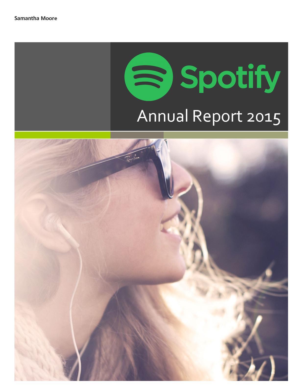 Calaméo - Spotify Annual Report