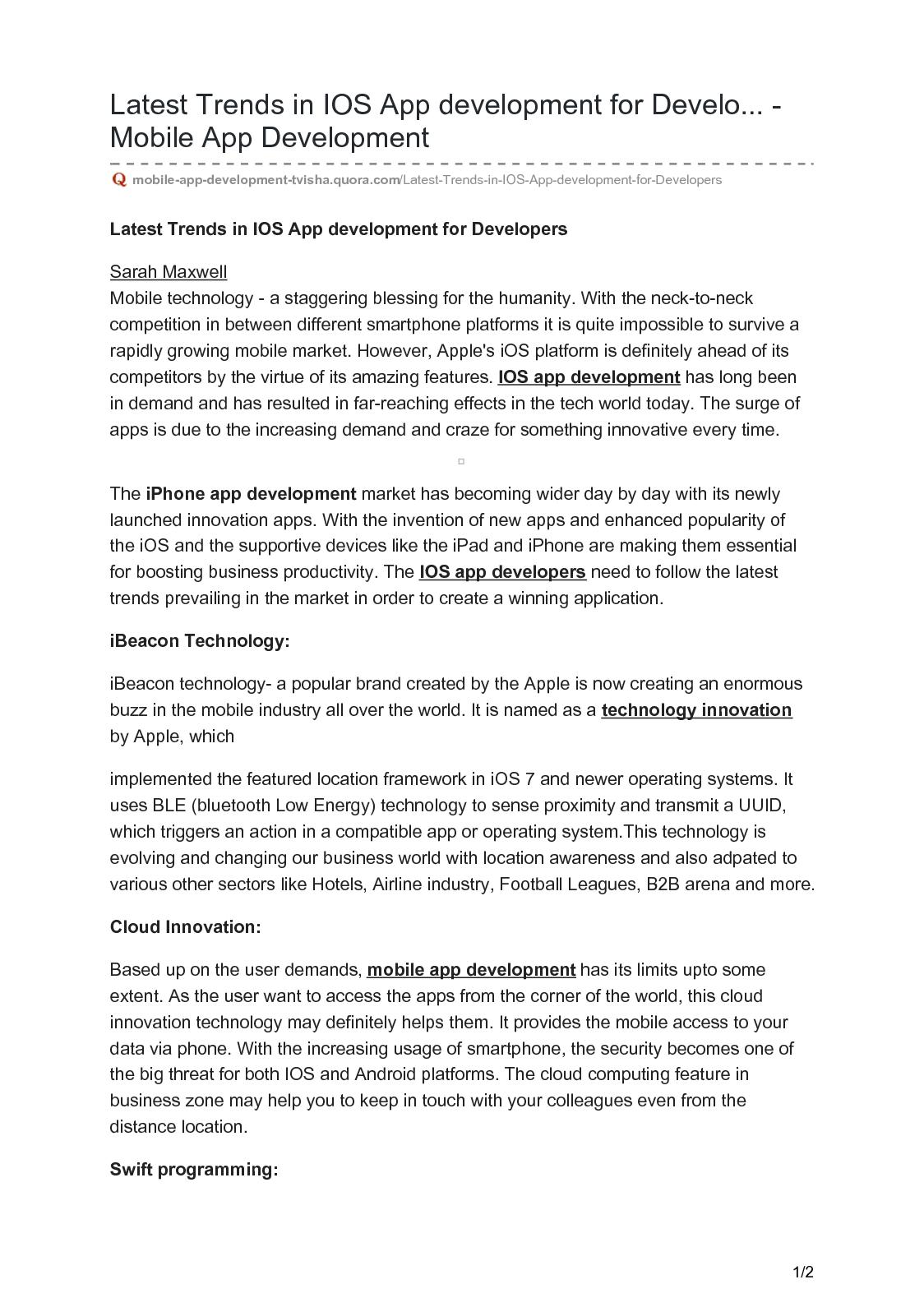 Calaméo - Mobile App Development Tvisha Quora Com Latest Trends In