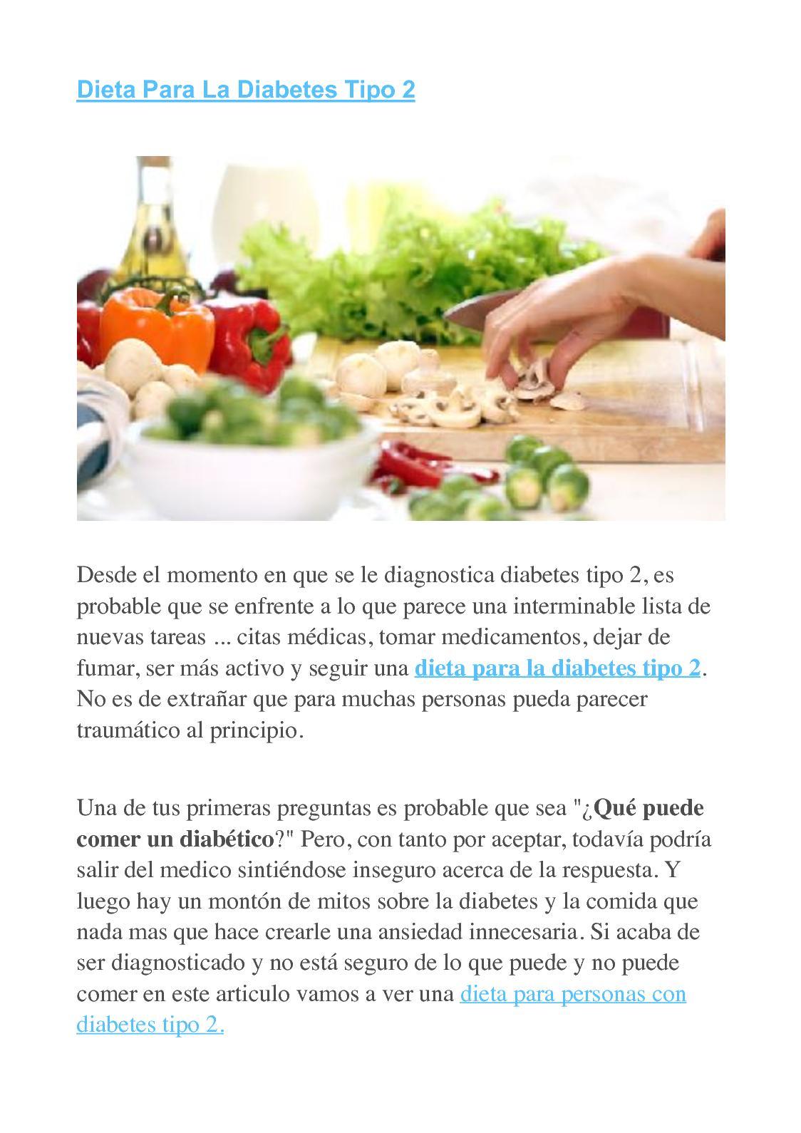 Dieta de un diabetes tipo 2