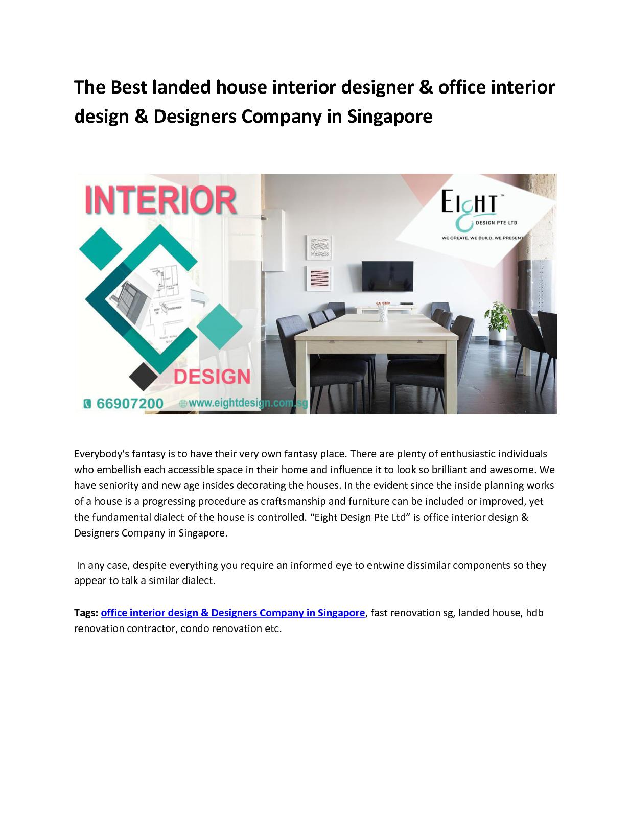 Calameo The Best Landed House Interior Designer Office Interior Design Designers Company In Singapore